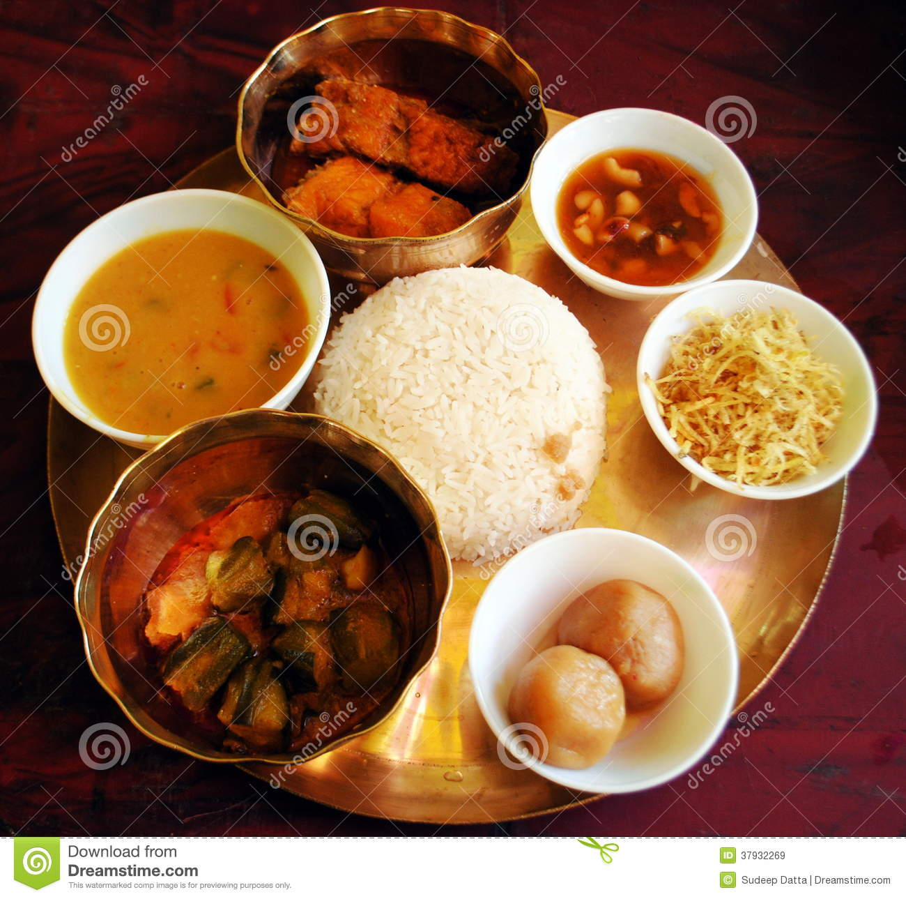 Festive Bengali Lunch Royalty Free Stock Images - Image ...