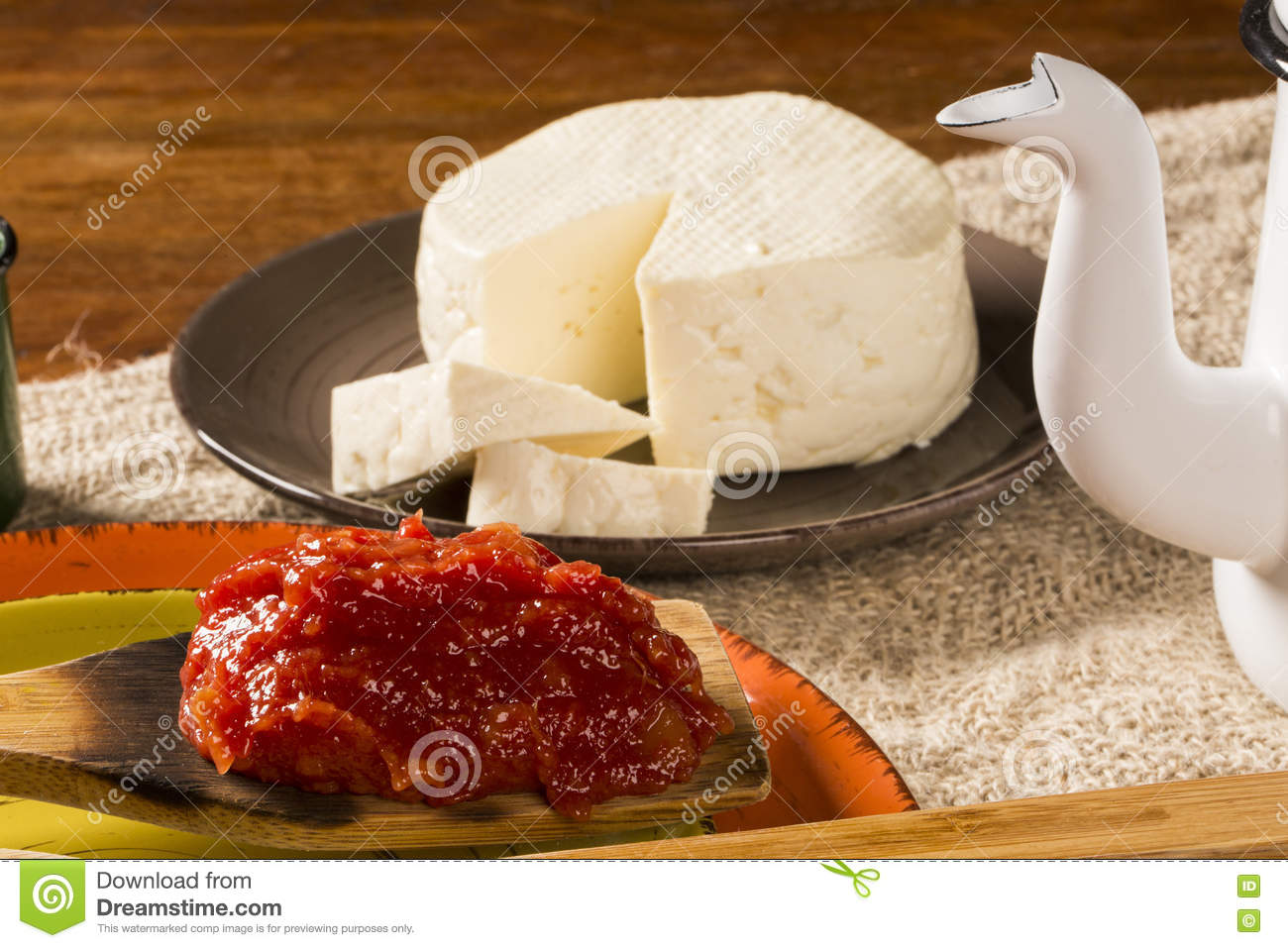 Typical Brazilian Specialty: Guava Paste With White Cheese, Loca Stock Photo