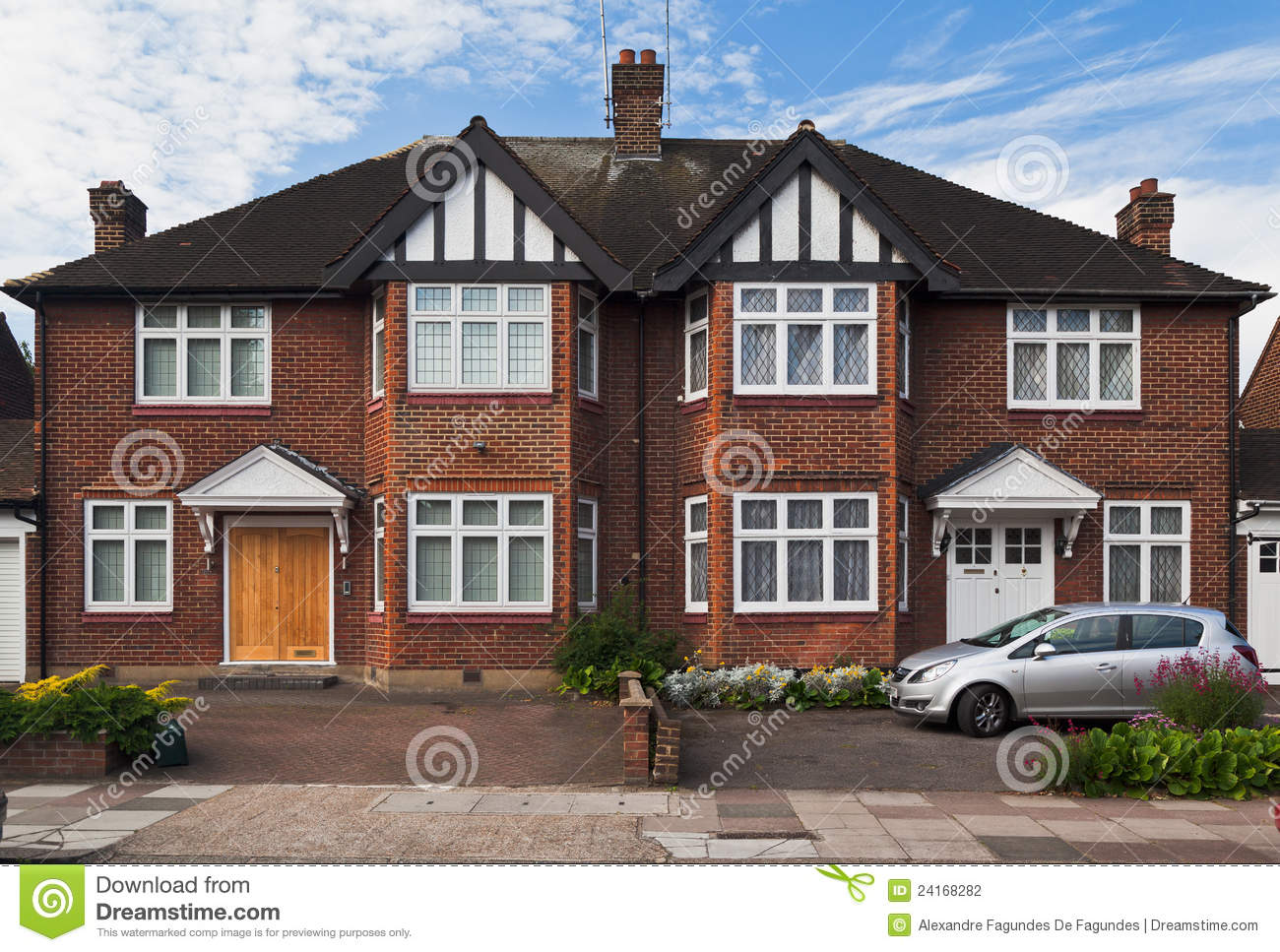 Typical British Brick House London England Stock Photo