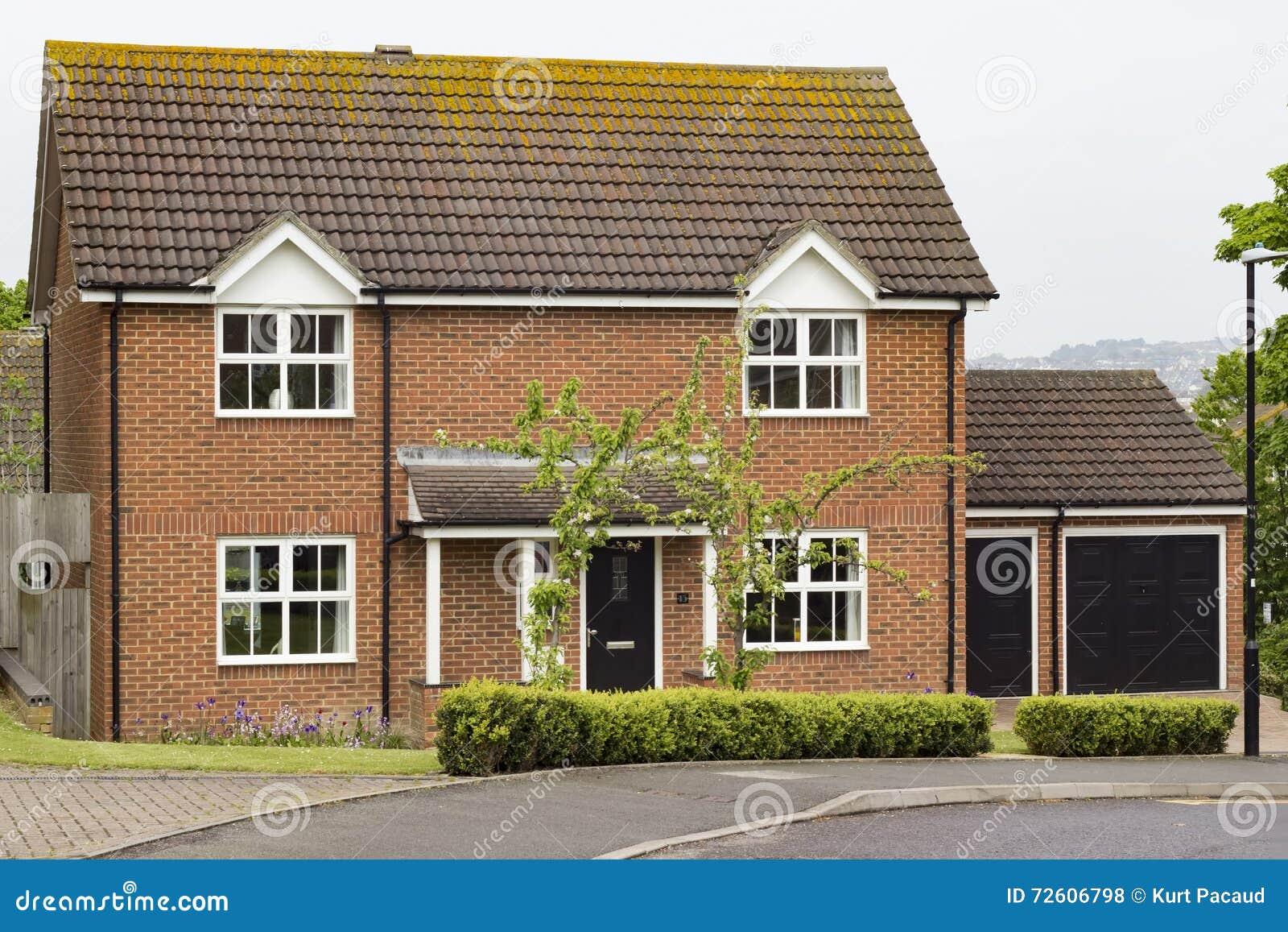 Typical British House Stock Photo Image 72606798