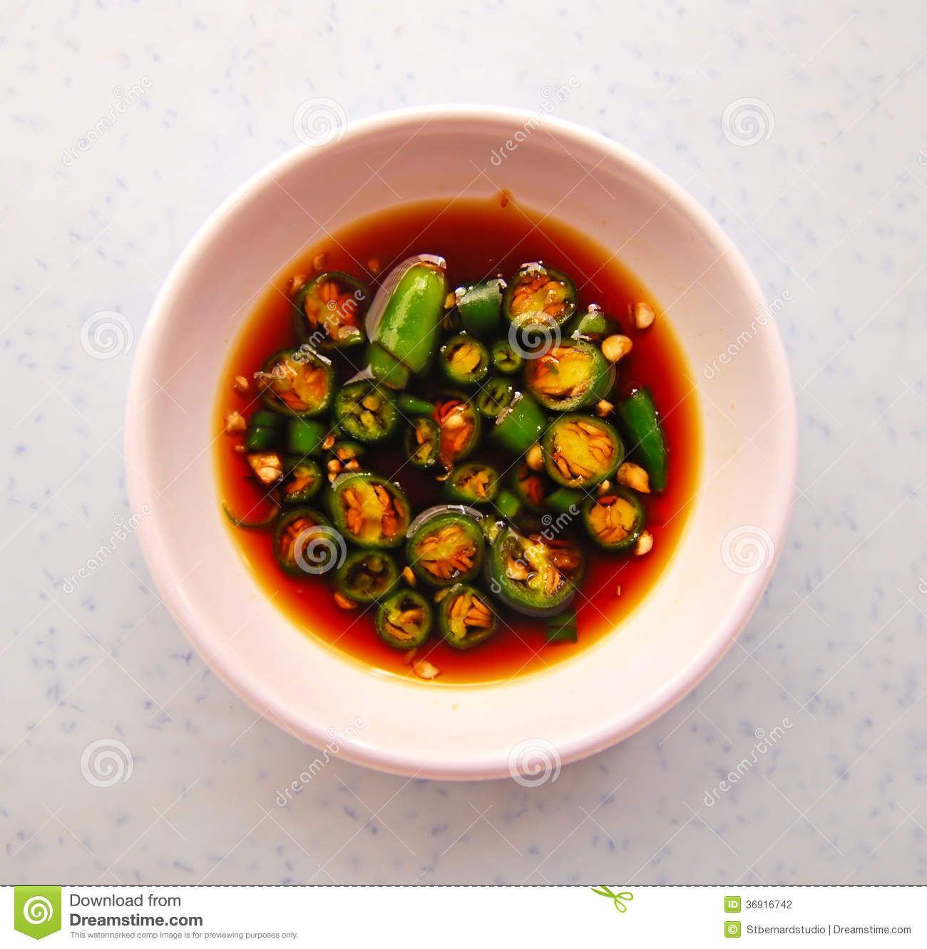 Typical chili and soy sauce condiment in asia stock photo for Asia oriental cuisine