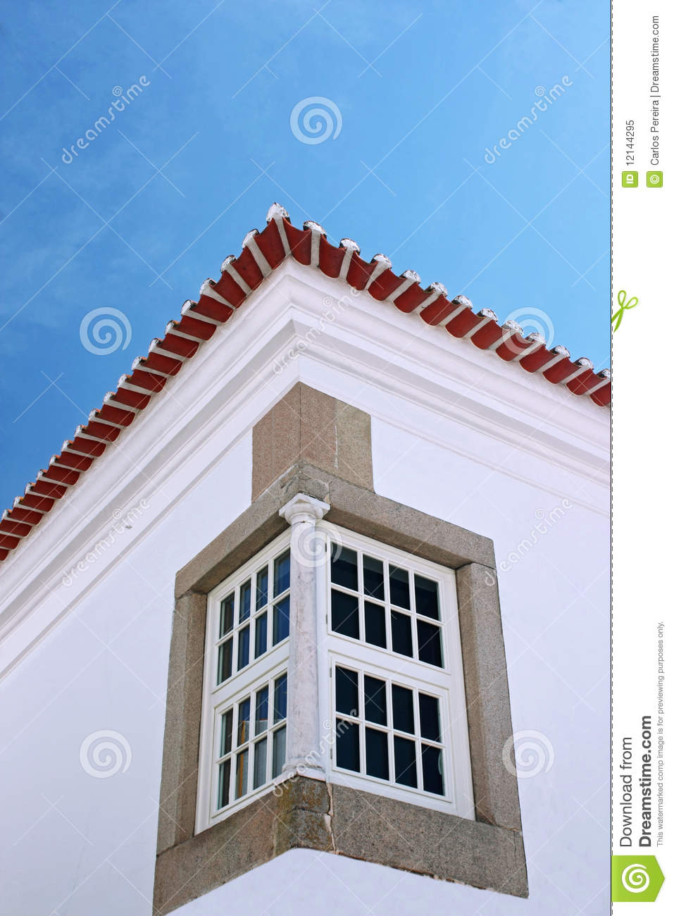 Typical Corner Window In A Old Building Stock Image