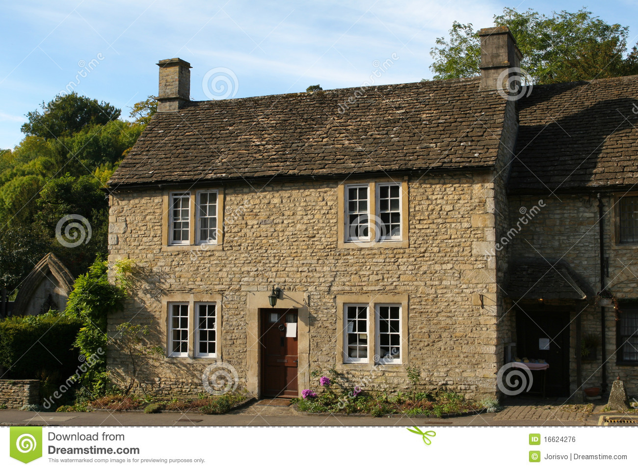 Typical Cotswold Cottage Royalty Free Stock Image Image