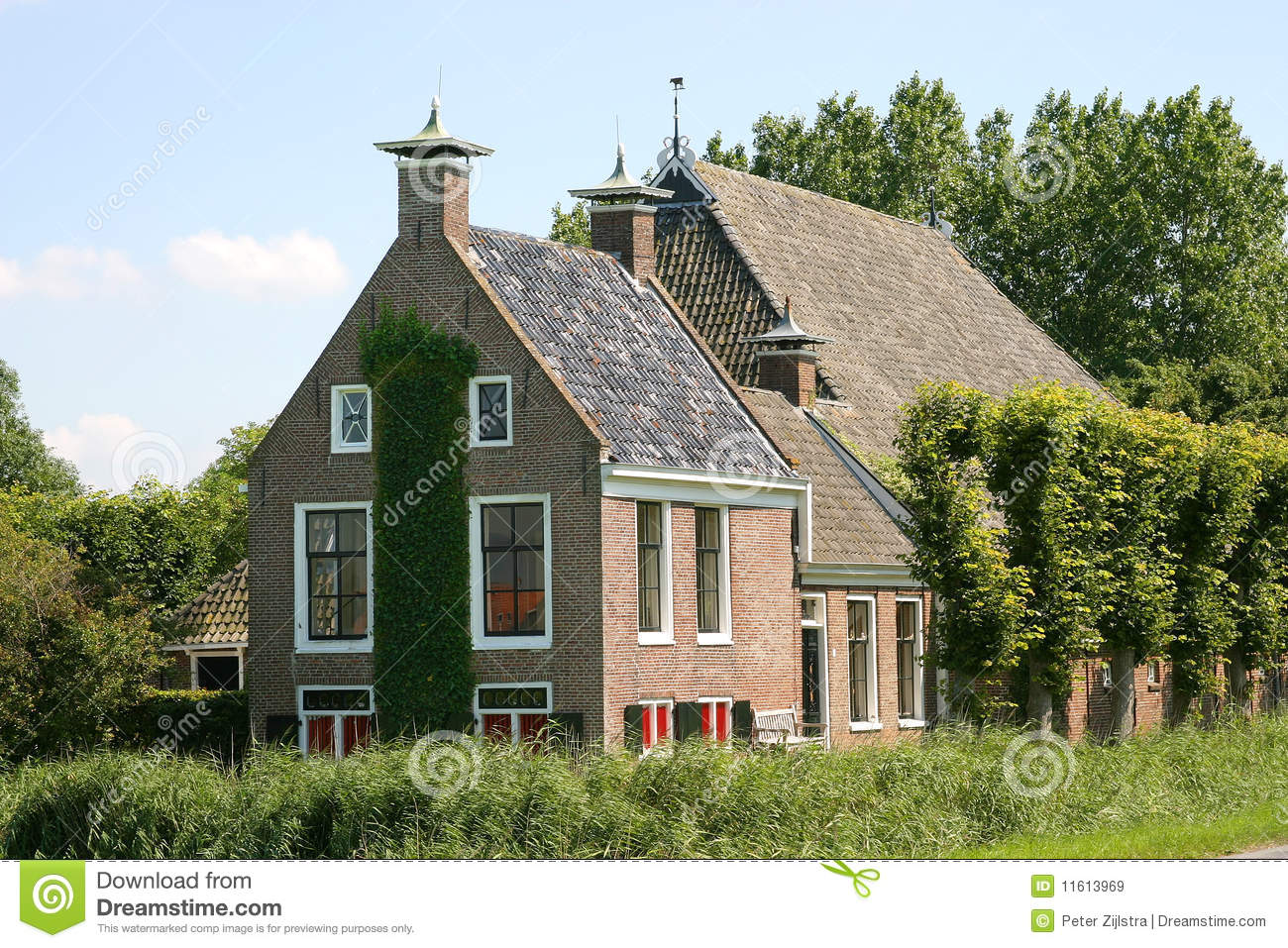 Typical Dutch Farmhouse Stock Image Image Of Holland