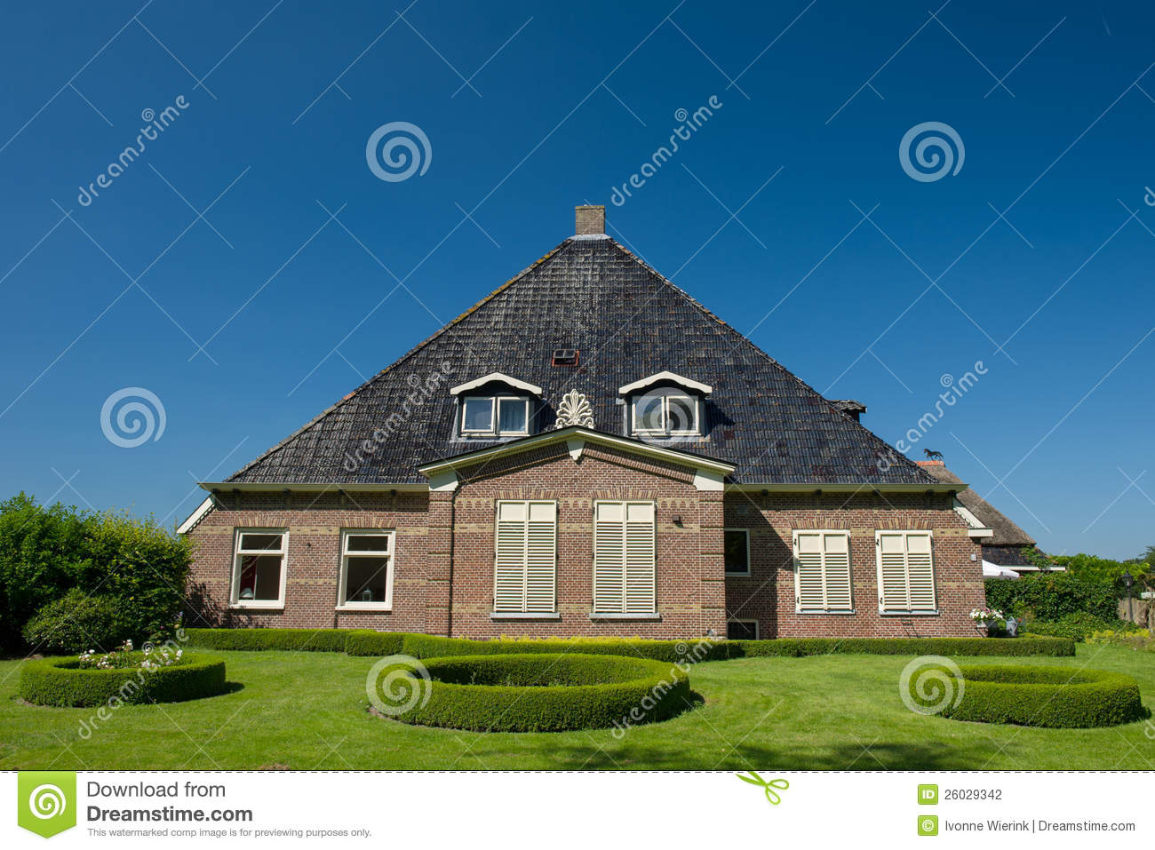 Typical dutch farmhouse stock photography image 26029342 for Farm house netherlands