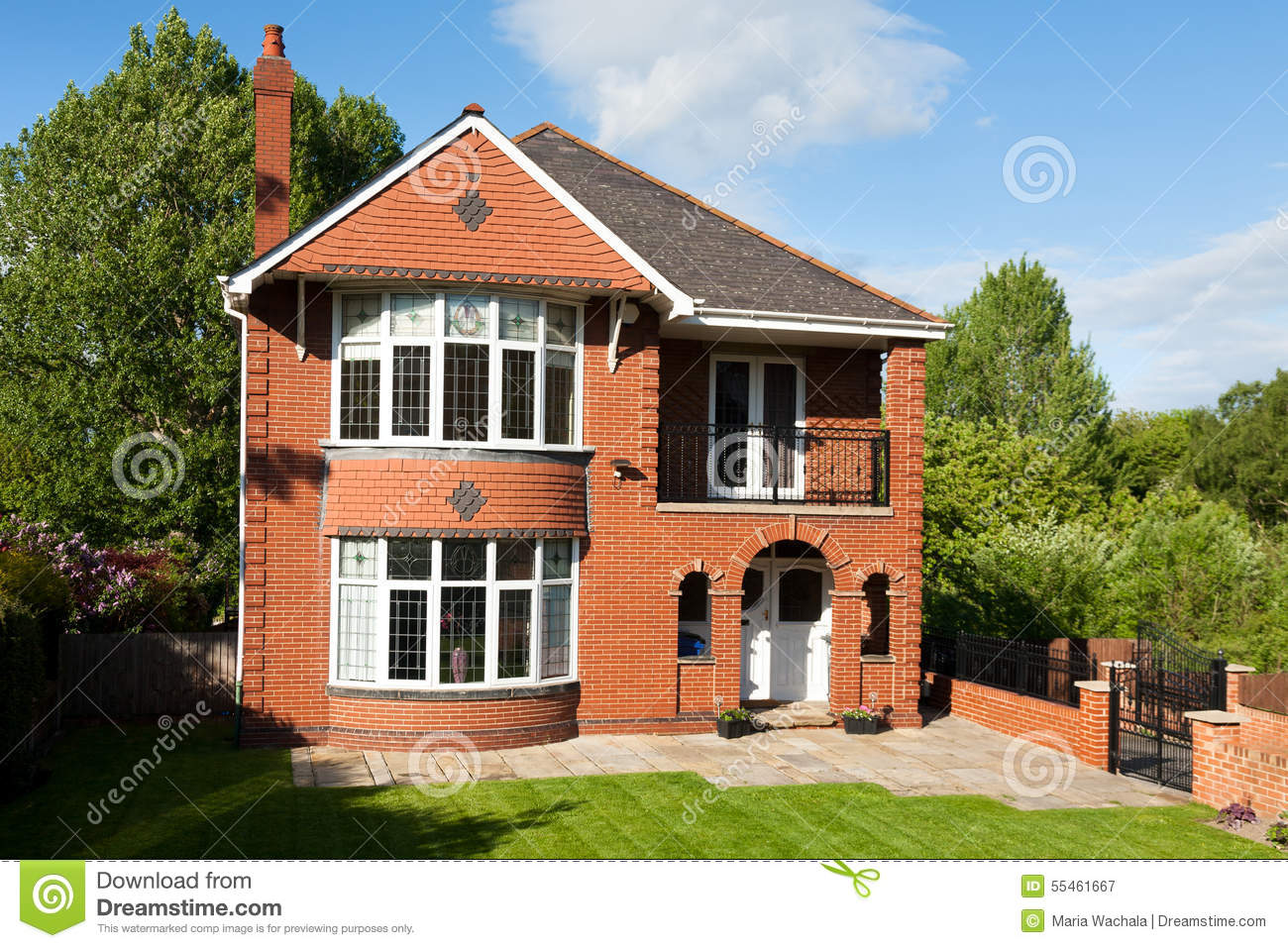 Typical English House Stock Photo - Image: 55461667
