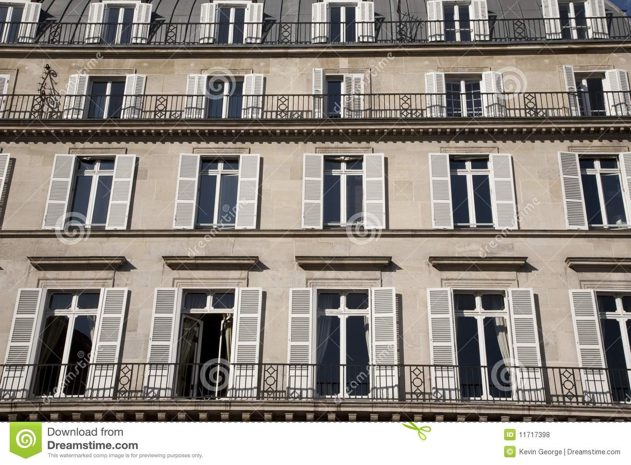 typical facade in paris royalty free stock photos image 11717398. Black Bedroom Furniture Sets. Home Design Ideas