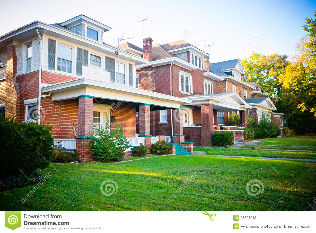 Typical family homes stock image image of details brick for Large windows for homes