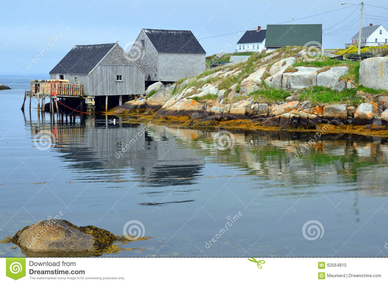 Typical fisherman shack editorial image  Image of cove - 62564810