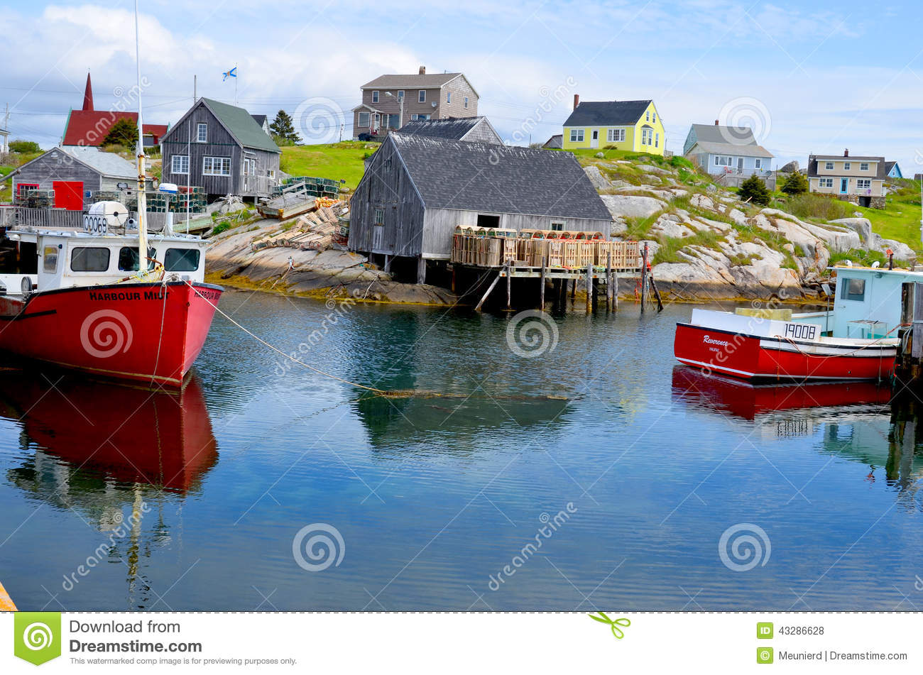 Typical fisherman village editorial stock photo  Image of