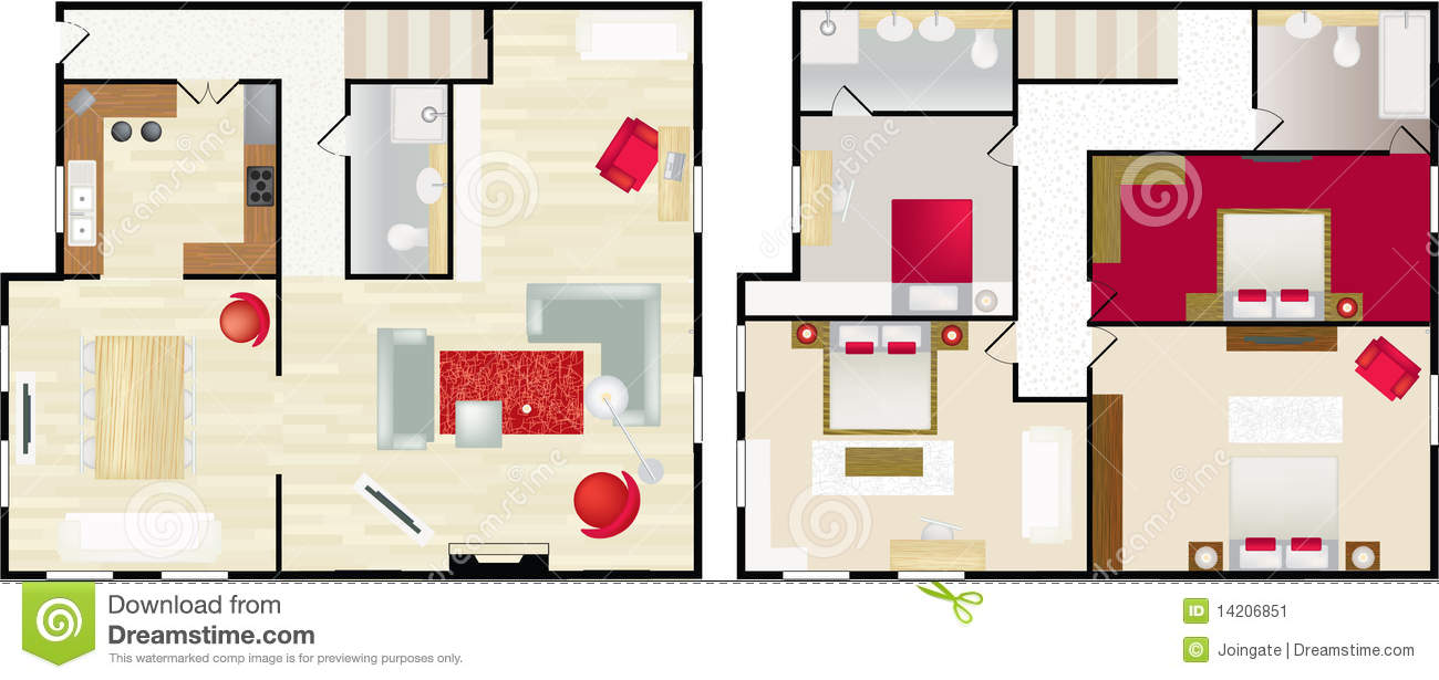 Typical Floorplan Of S House Stock Image Image 14206851