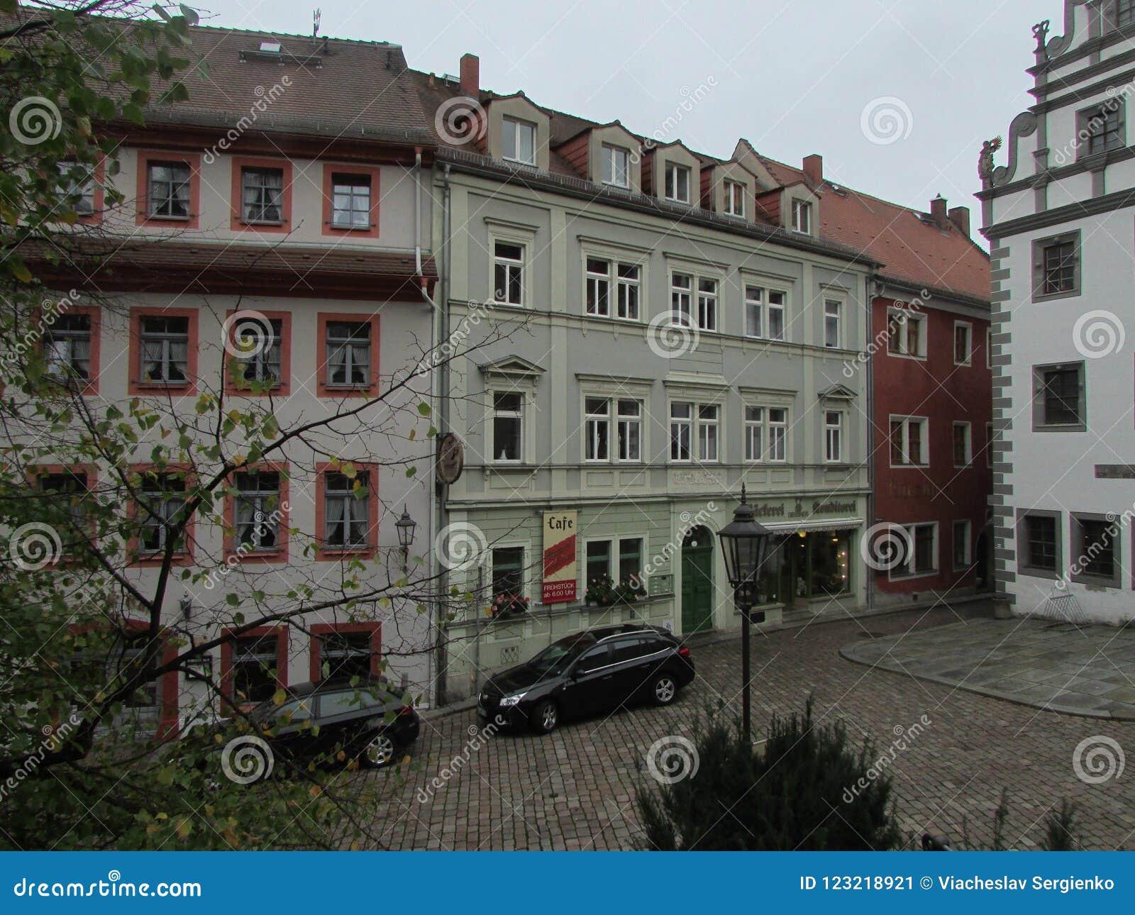 Typical German courtyard. Mason, Germany.