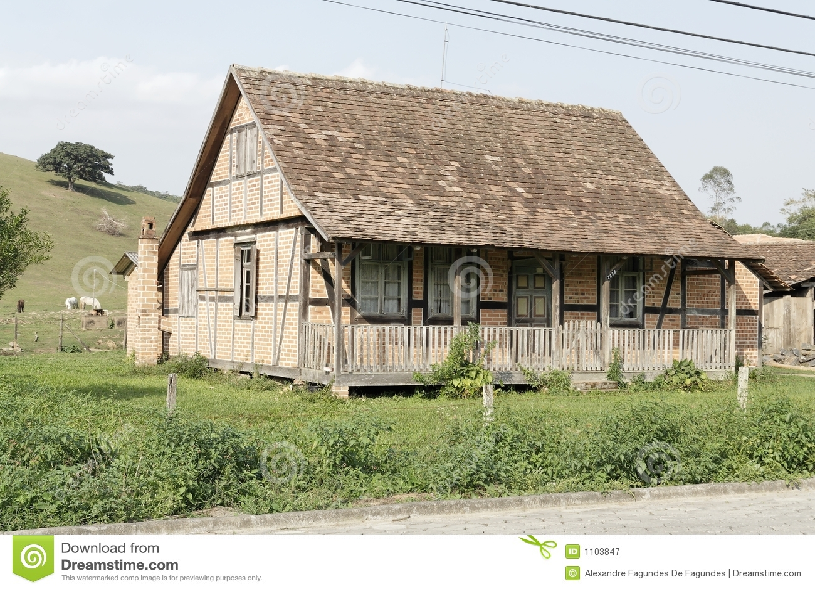 typical german half timbered historical house stock image image 1103847. Black Bedroom Furniture Sets. Home Design Ideas