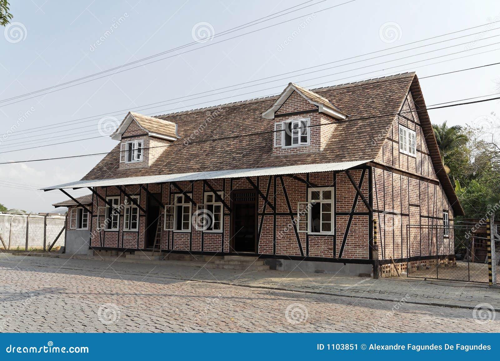 typical german half timbered historical house stock image image 1103851. Black Bedroom Furniture Sets. Home Design Ideas
