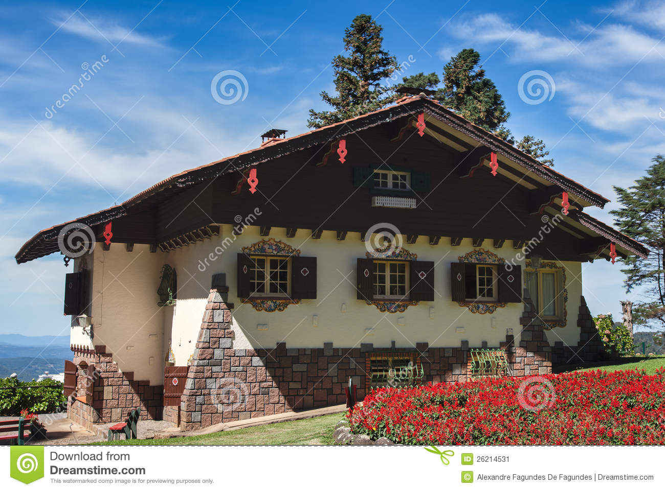 Typical German House Gramado Brazil Editorial Photo