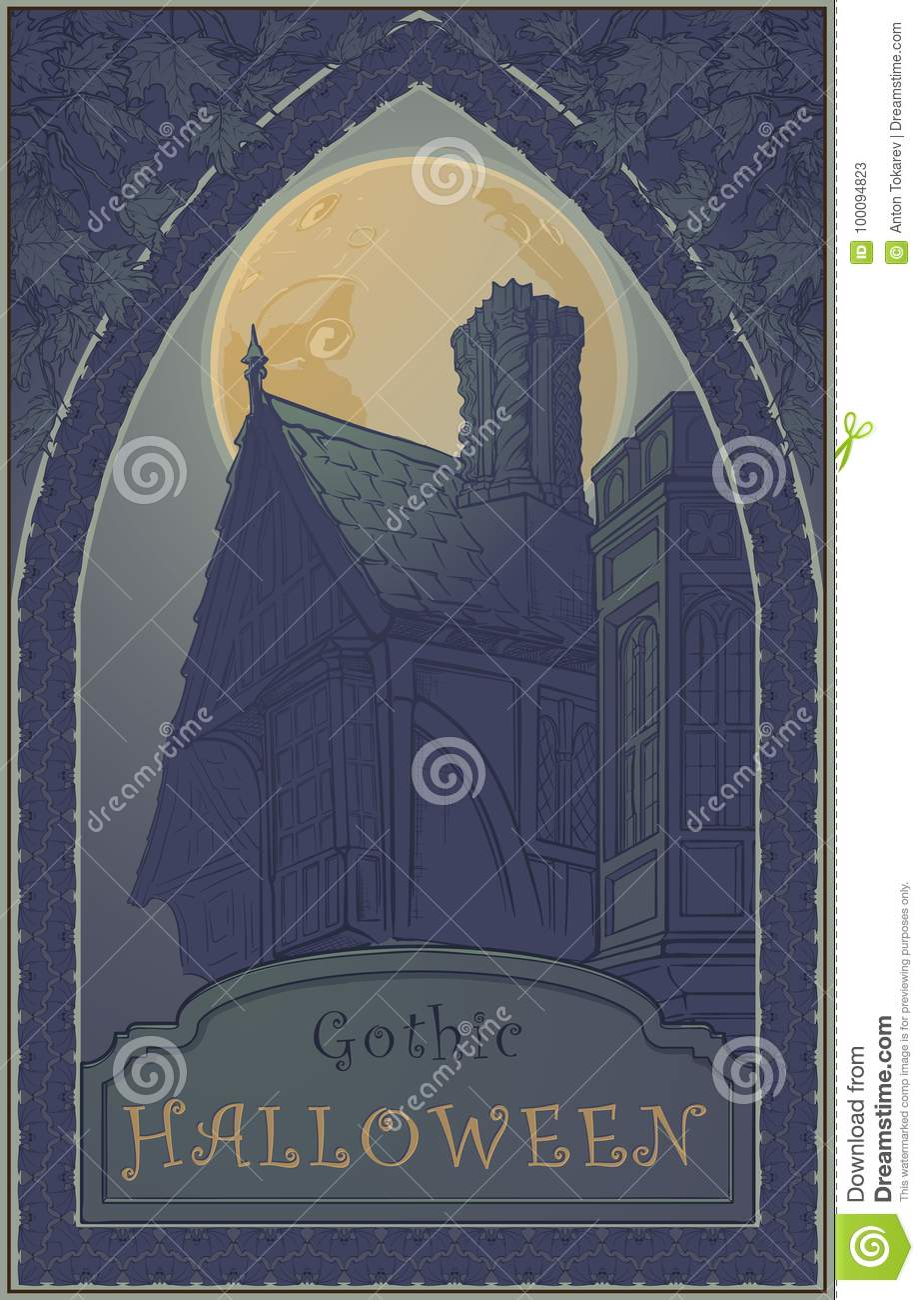 Typical Ghost Story House Halloween Conceptual Art Halloween