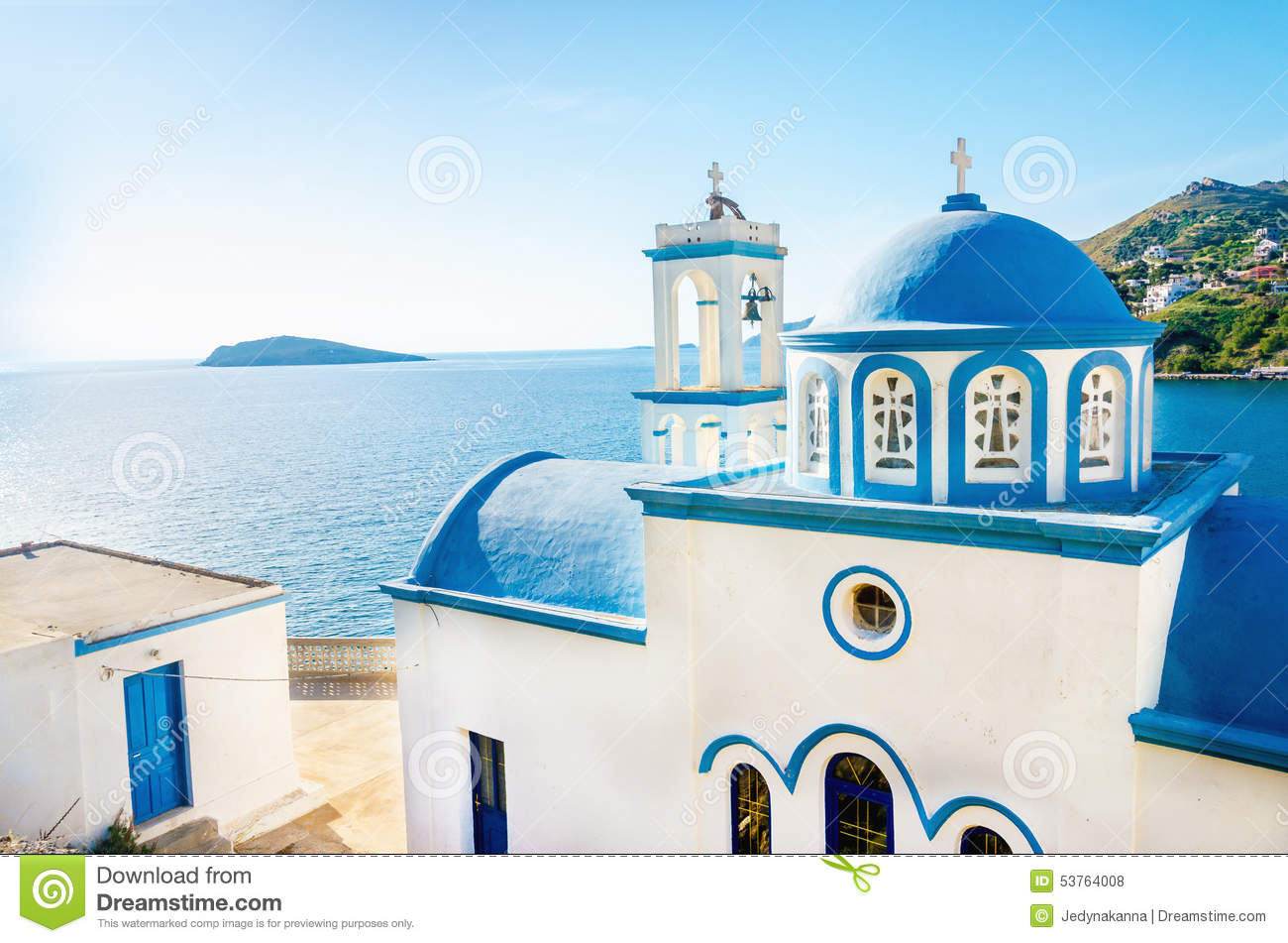 City With White Buildings In Greece