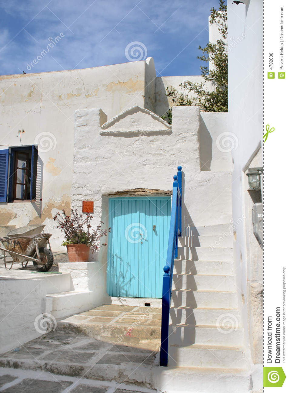 Typical Greek Island Home Paros Island Greece Stock