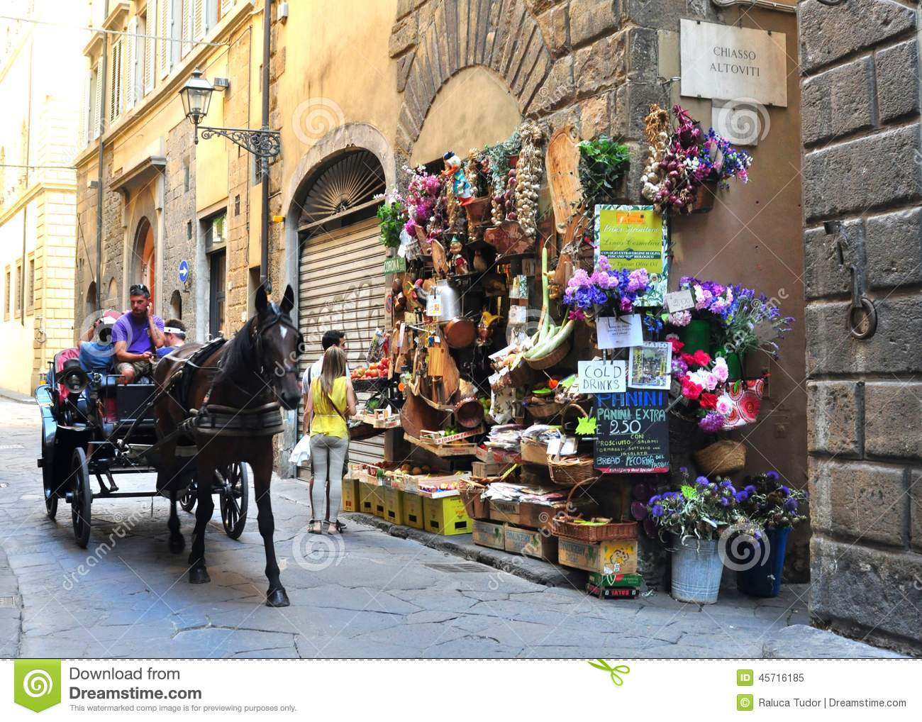 Typical grocery shop in florence city italy editorial for Dream store firenze