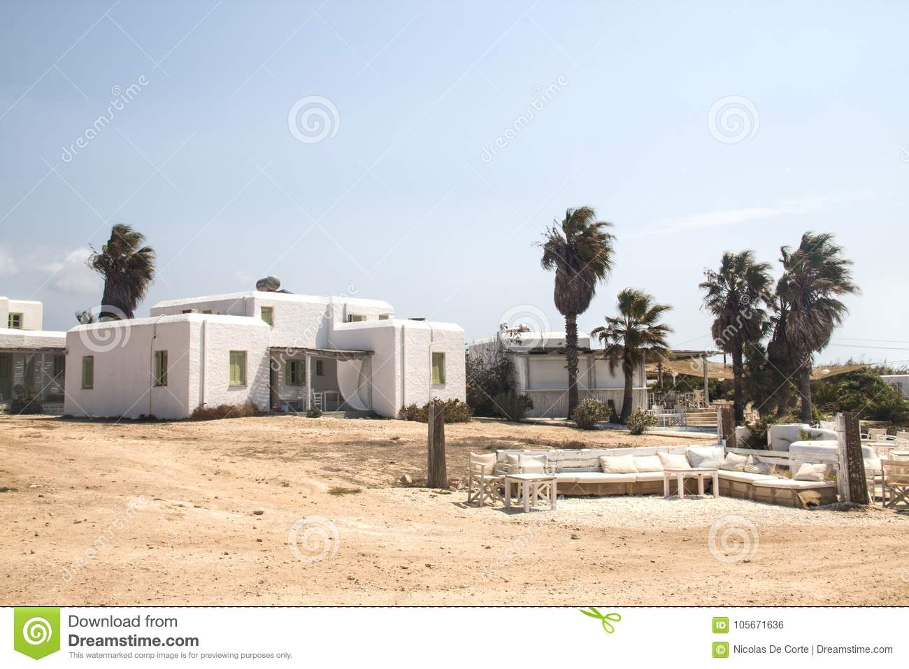 Typical guesthouse on Antiparos, Greece