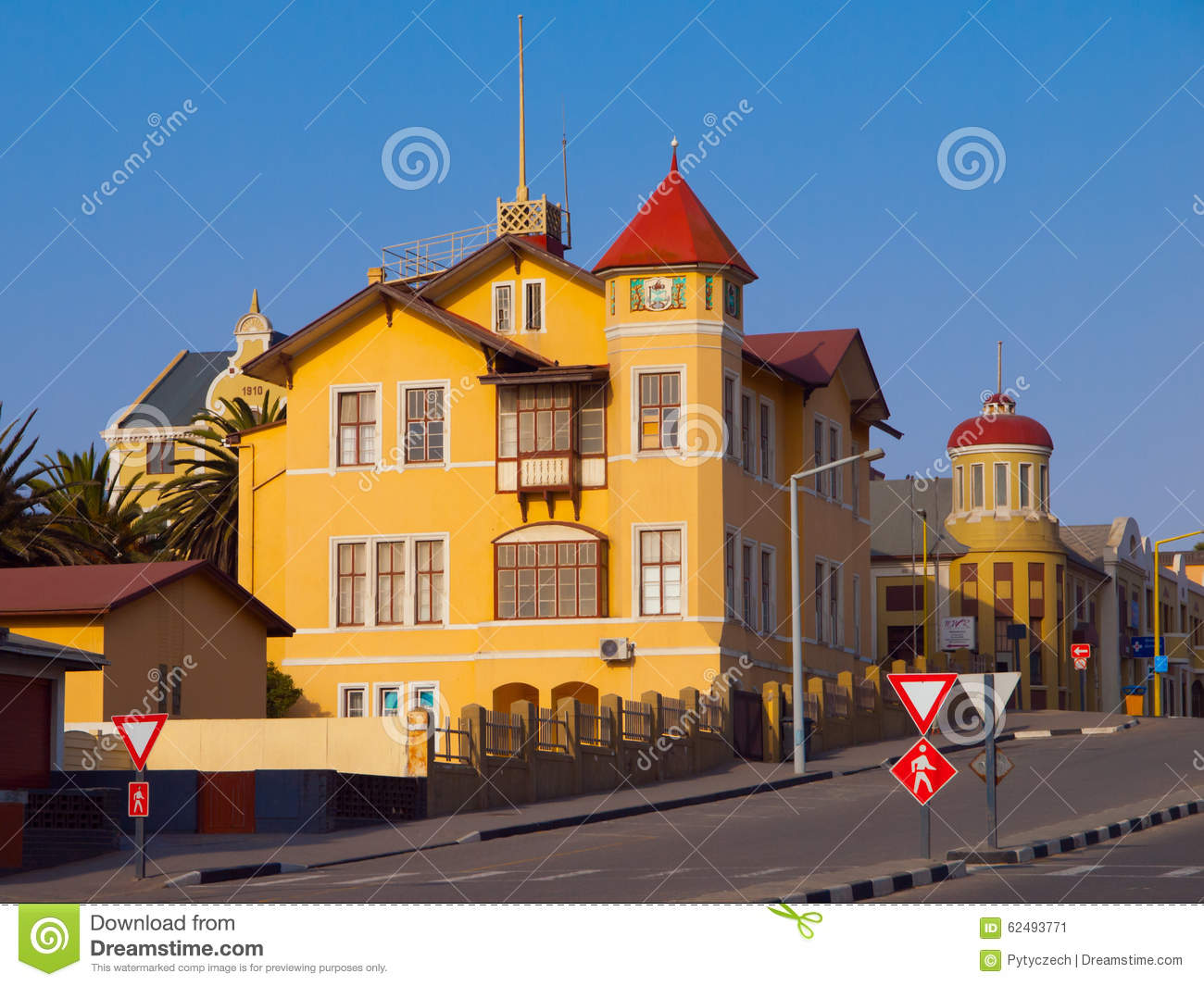 Typical House With Vivid Yellow Facade