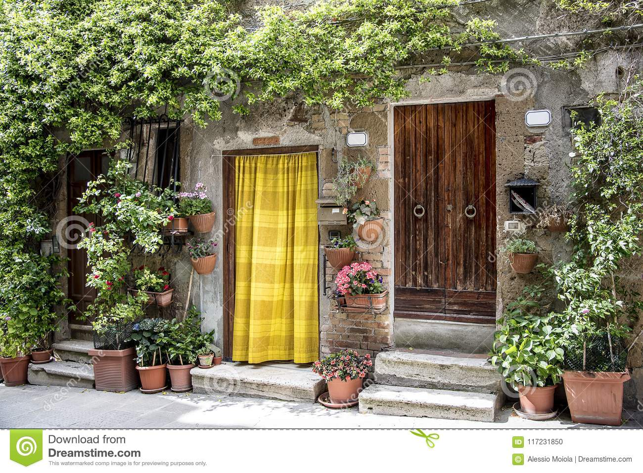 Typical house of Pitigliano, medieval village of Tuscany