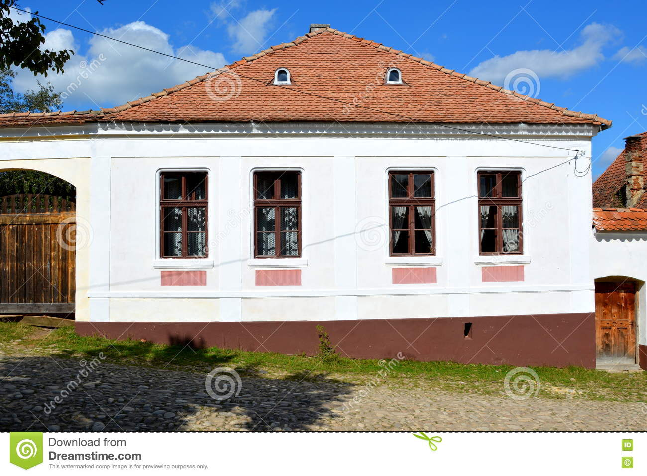 Bought cartoons illustrations vector stock images 423 pictures to download from - Saxon style houses in transylvania ...