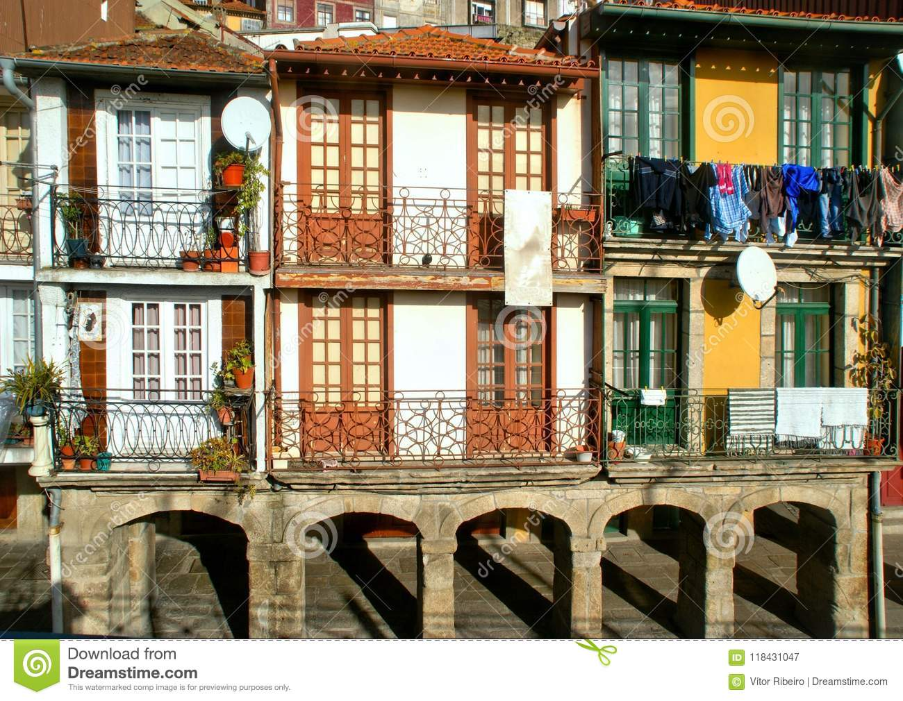 Typical houses in Oporto