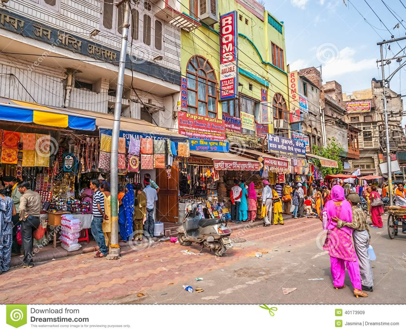 Typical Indian Street In Amritsar Editorial Stock Image ...