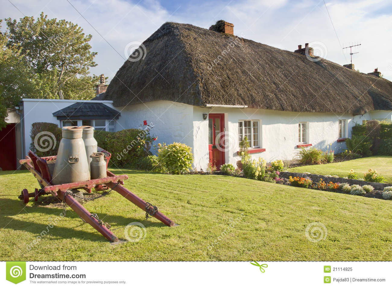 Typical Irish House In Adare Ireland Royalty Free Stock