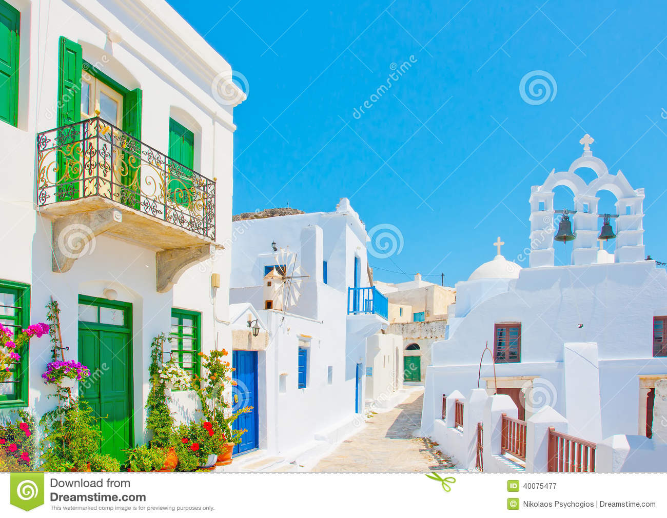 Old beautiful traditional house in chora the capital of amorgos island - The Typical Island Village Stock Photo Amorgos Beautiful Church Greece Island Old Road Traditional