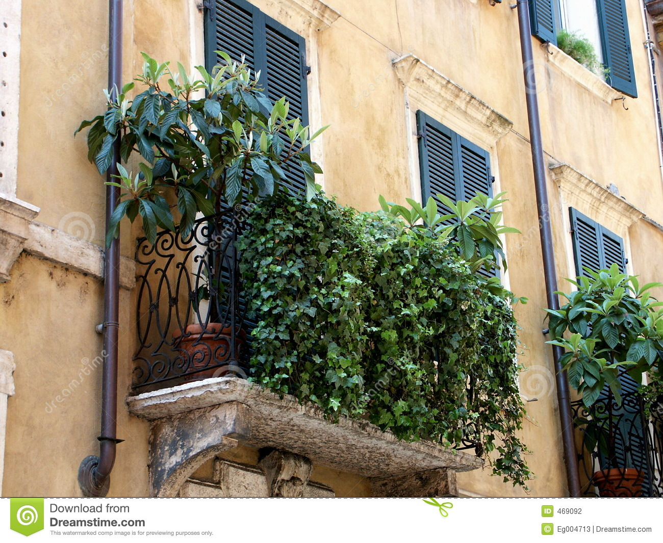 Download Typical Italian balcony stock photo. Image of italy, monument - 469092