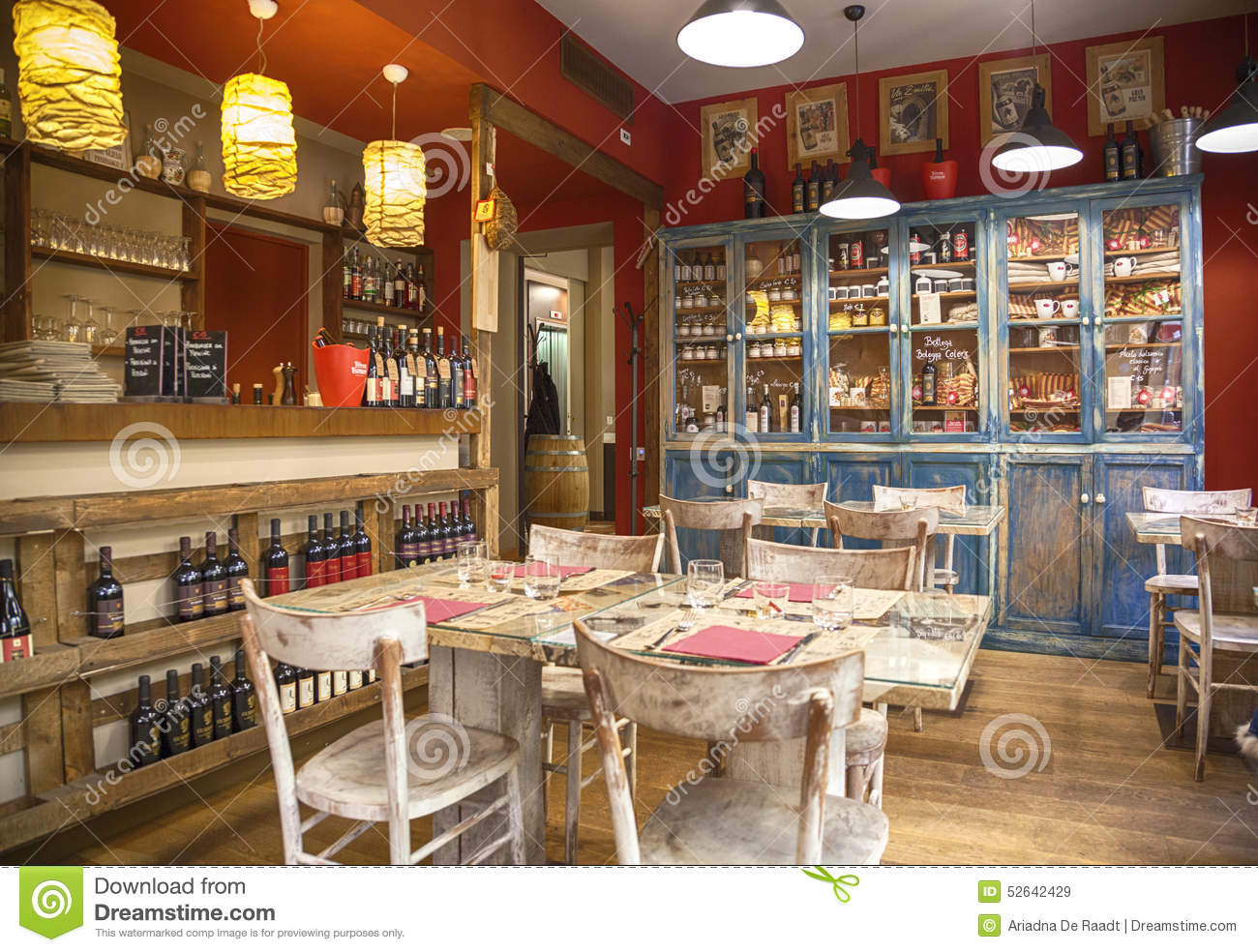 Typical italian restaurant bologna editorial stock image image of dinner empty 52642429 - Interior design bologna ...