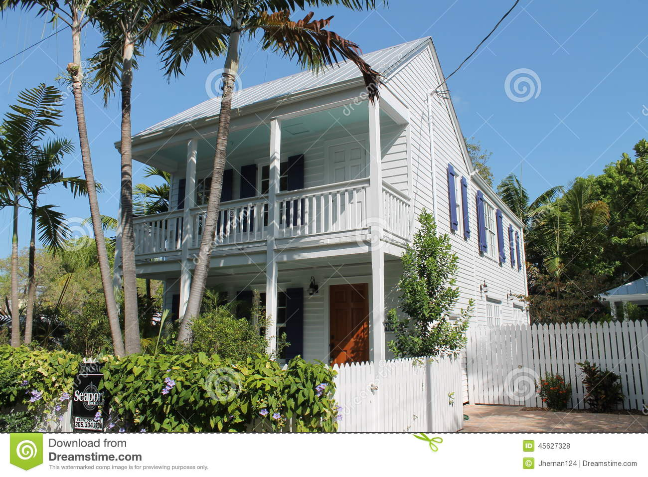 Typical key west house editorial stock photo image of for Key west style house plans