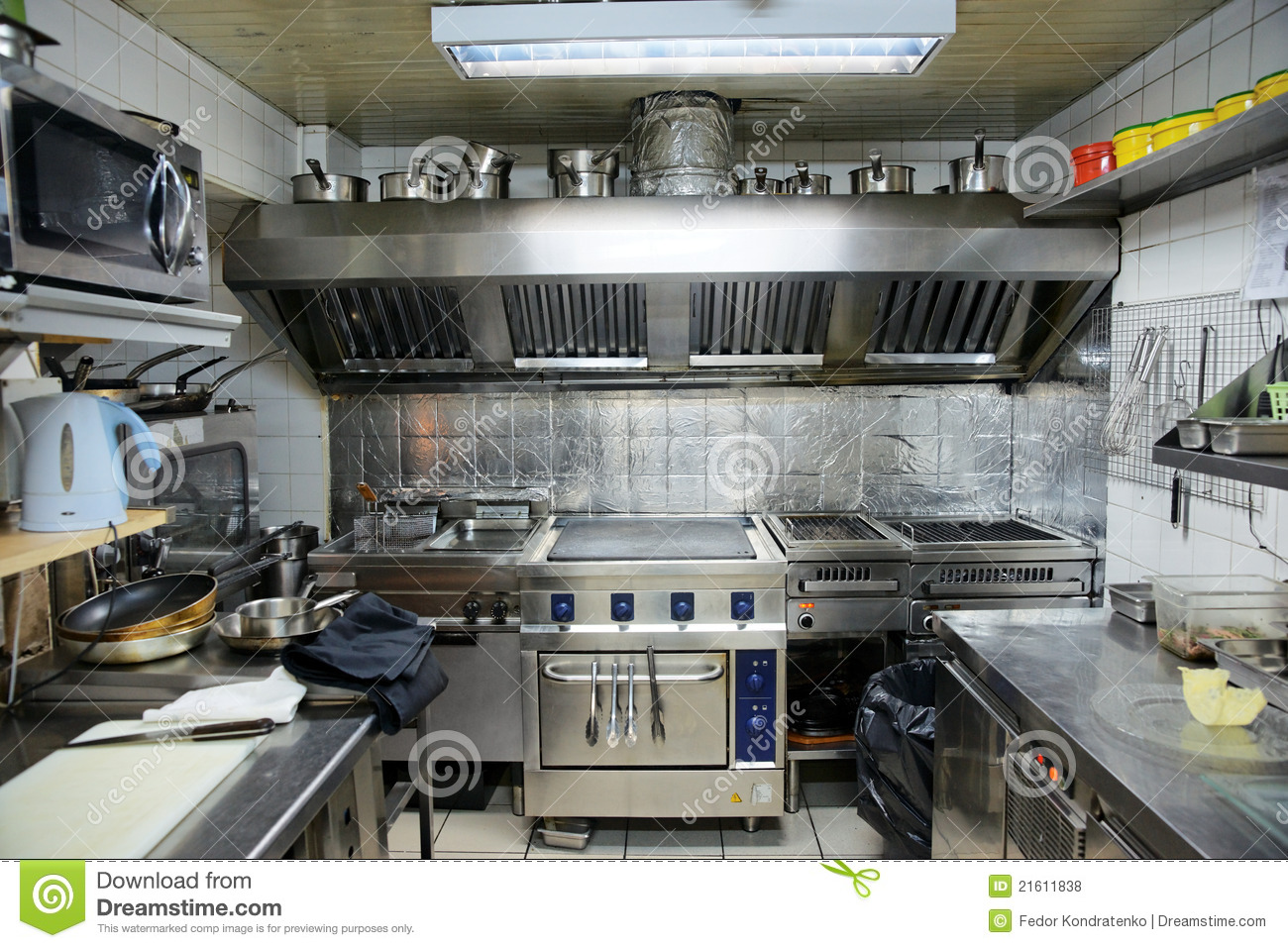 Typical Kitchen Of A Restaurant Stock Photo Image Of Kitchen