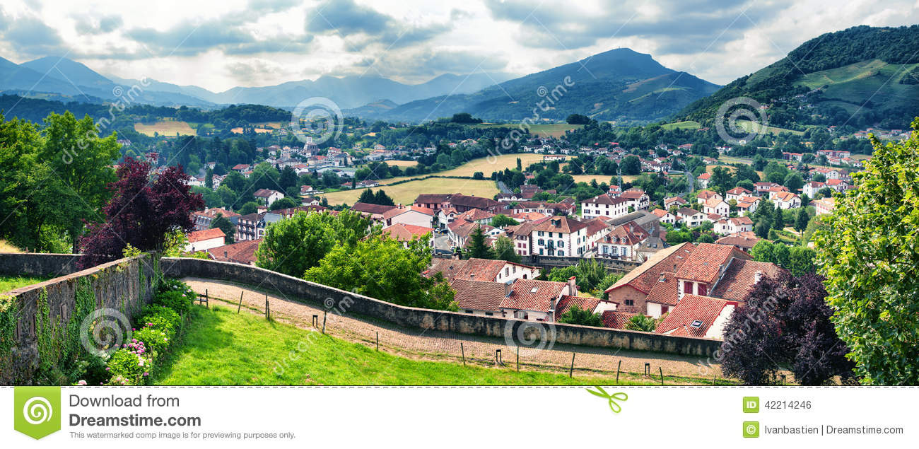 Typical Landscape In Pays Basque, France Stock Photo - Image of france, view: 42214246