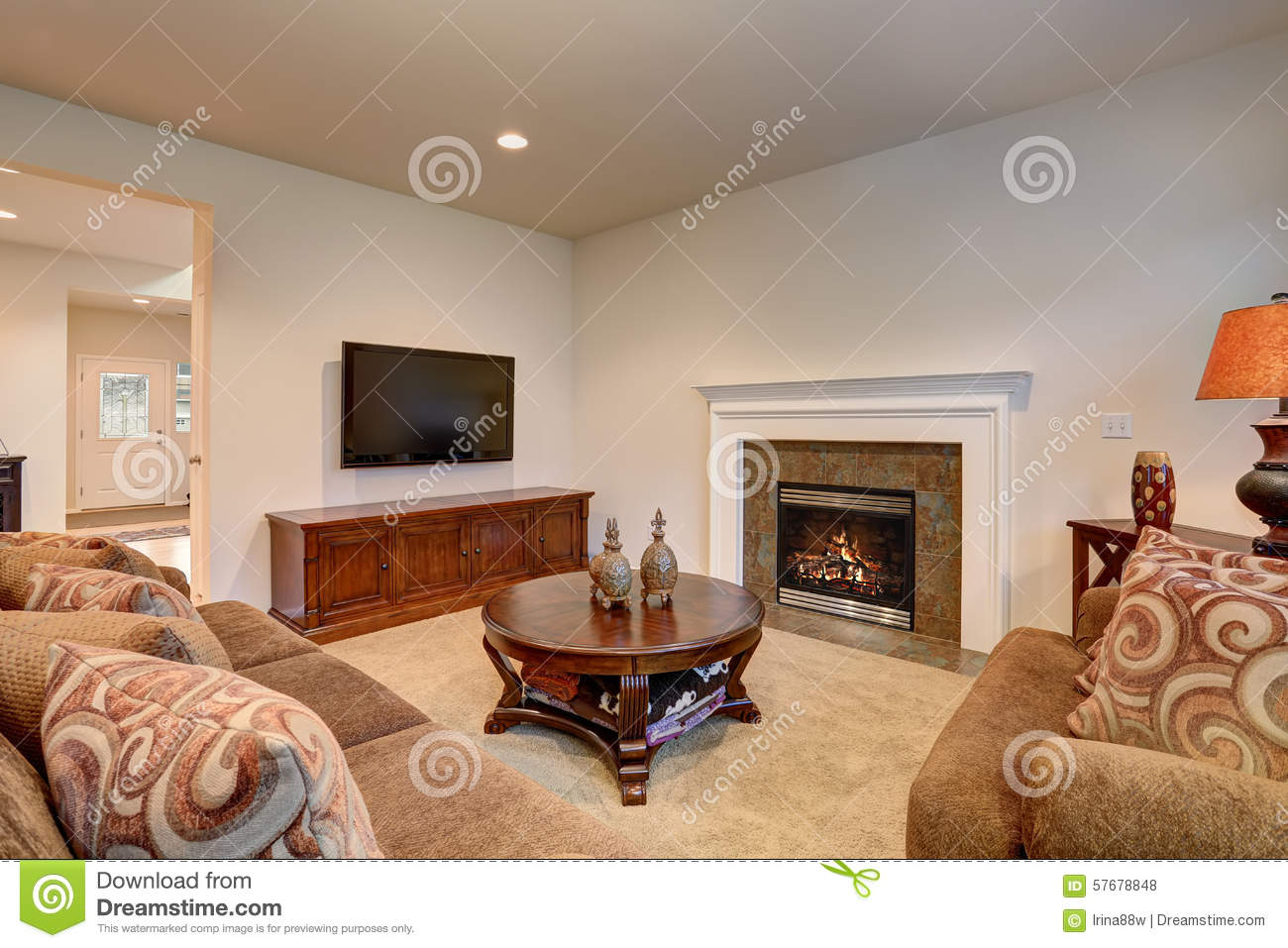 american living room. Royalty Free Stock Photo  Download Typical Living Room In American Home With Carpet And Velvet Sof