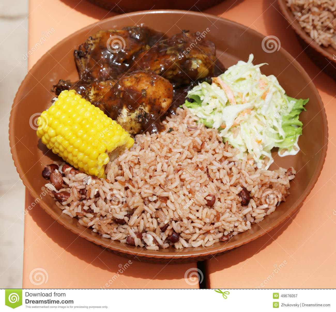 Typical local food at caribbean islands stock image for About caribbean cuisine