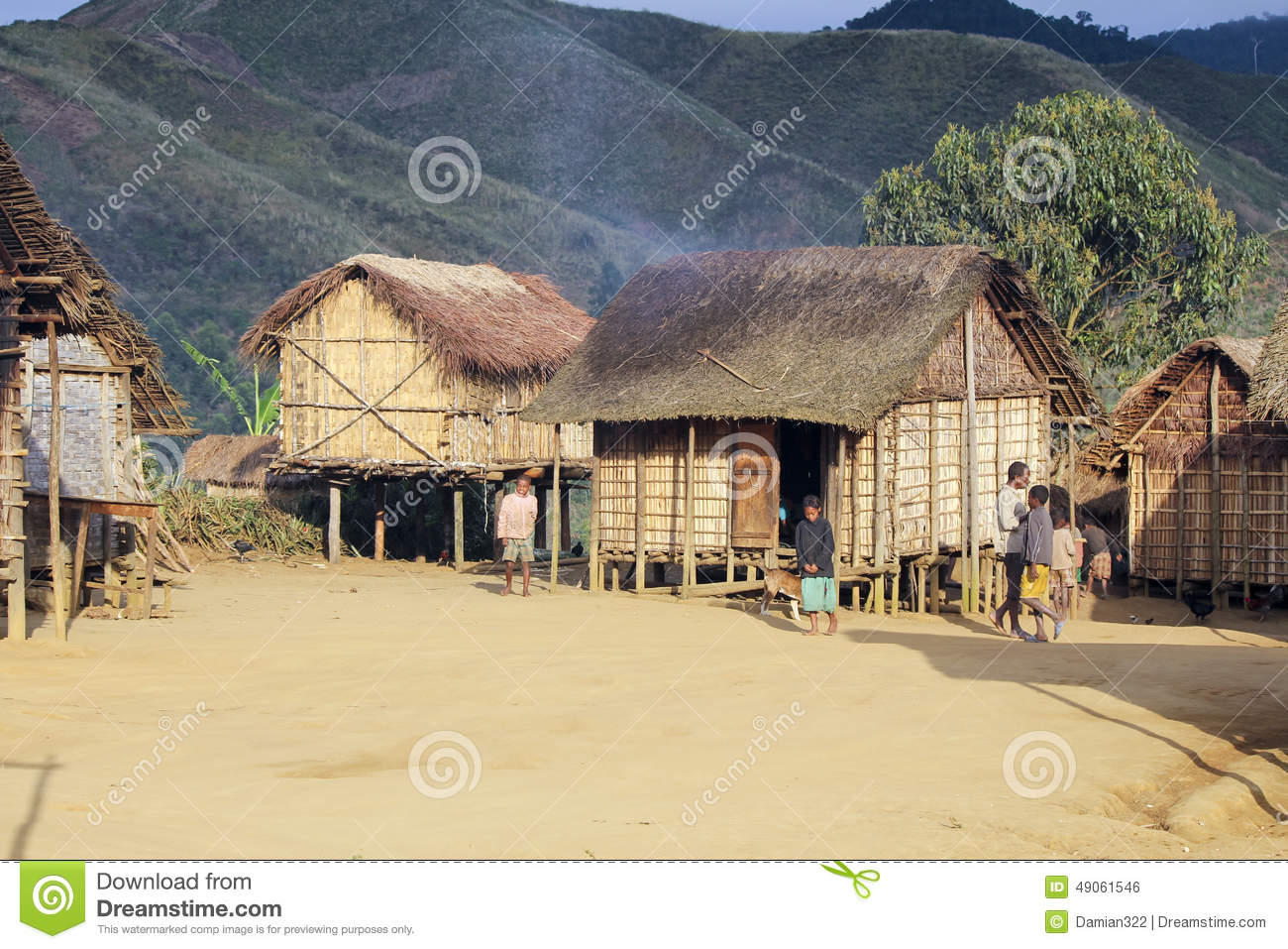 African tribal hut editorial image for Best tribal house