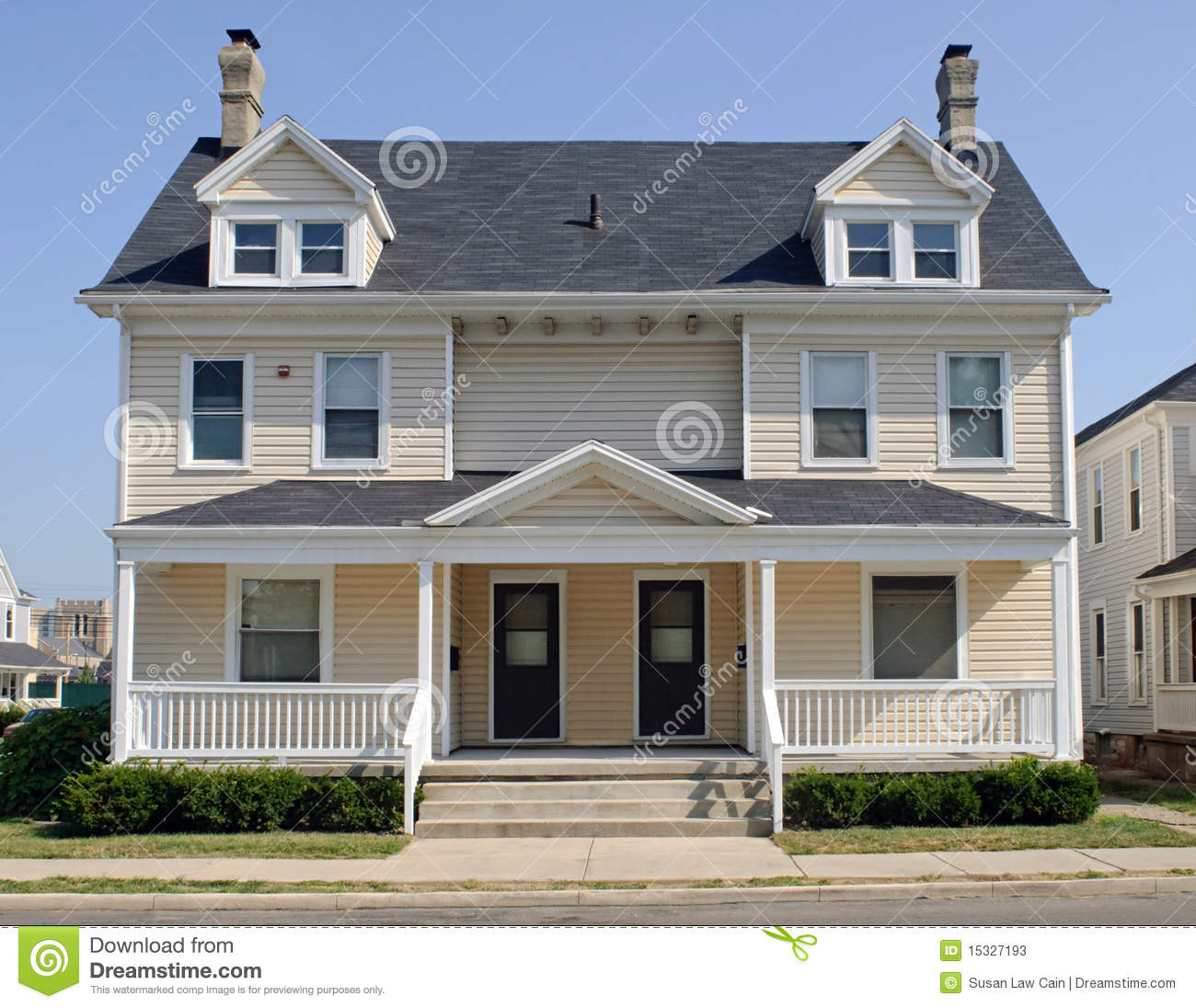 Typical Midwest Duplex House Stock Photos Image 15327193