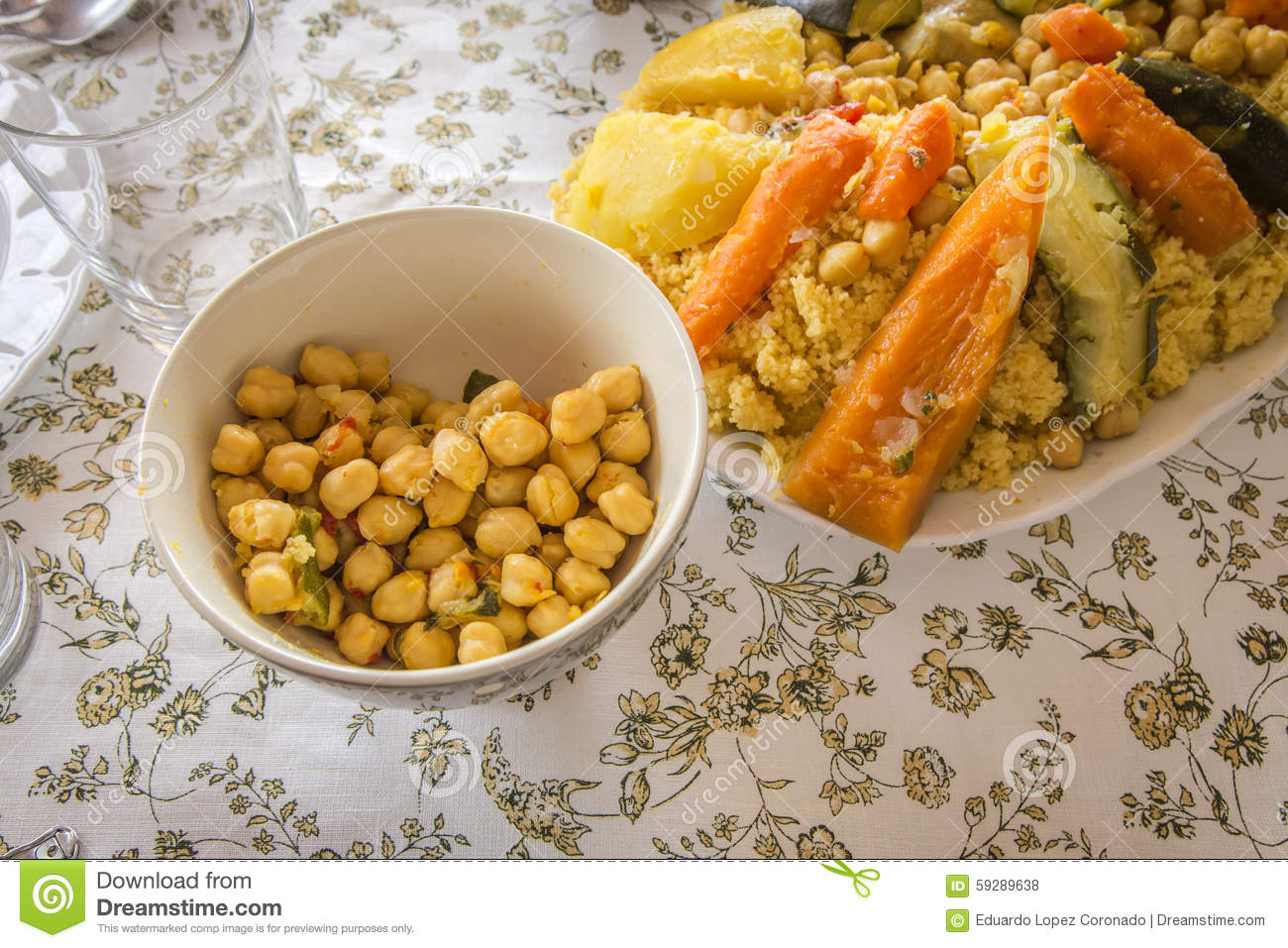 Typical moroccan and arabic food royalty free stock photo for Arabic cuisine dishes