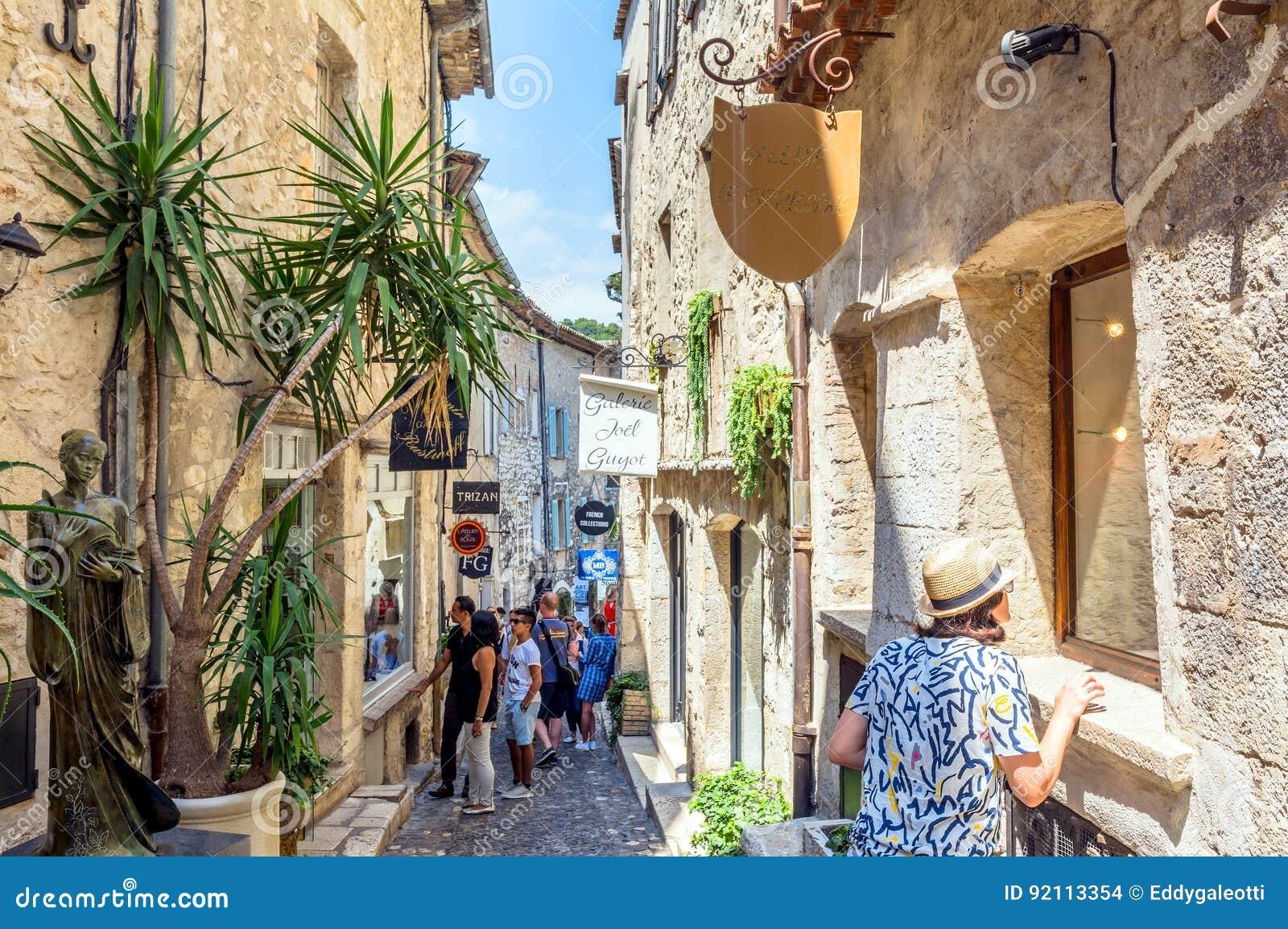 Saint Paul De Vence Art typical narrow street in saint paul de vence, france