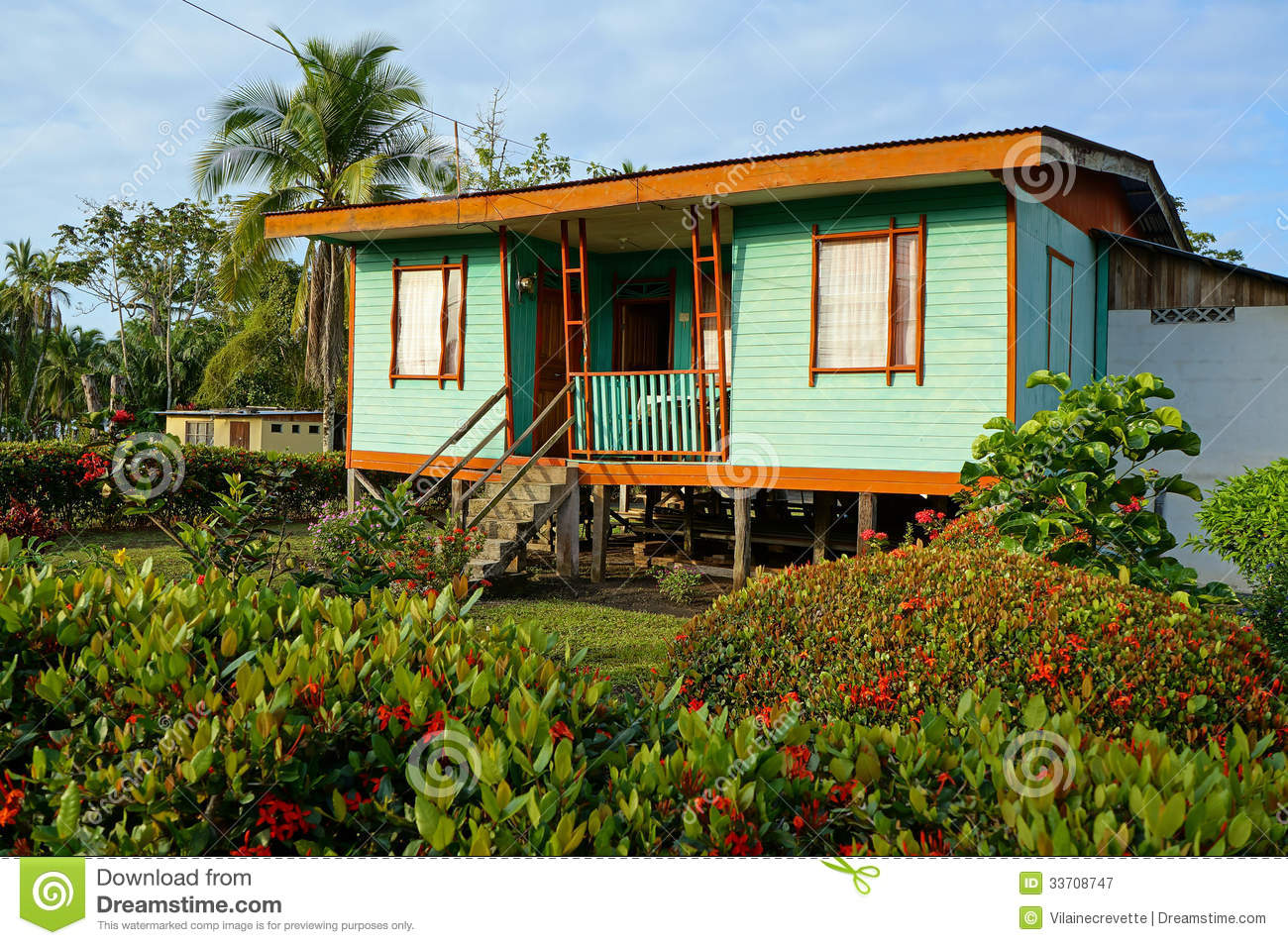 Typical Native Caribbean House Stock Image Image 33708747