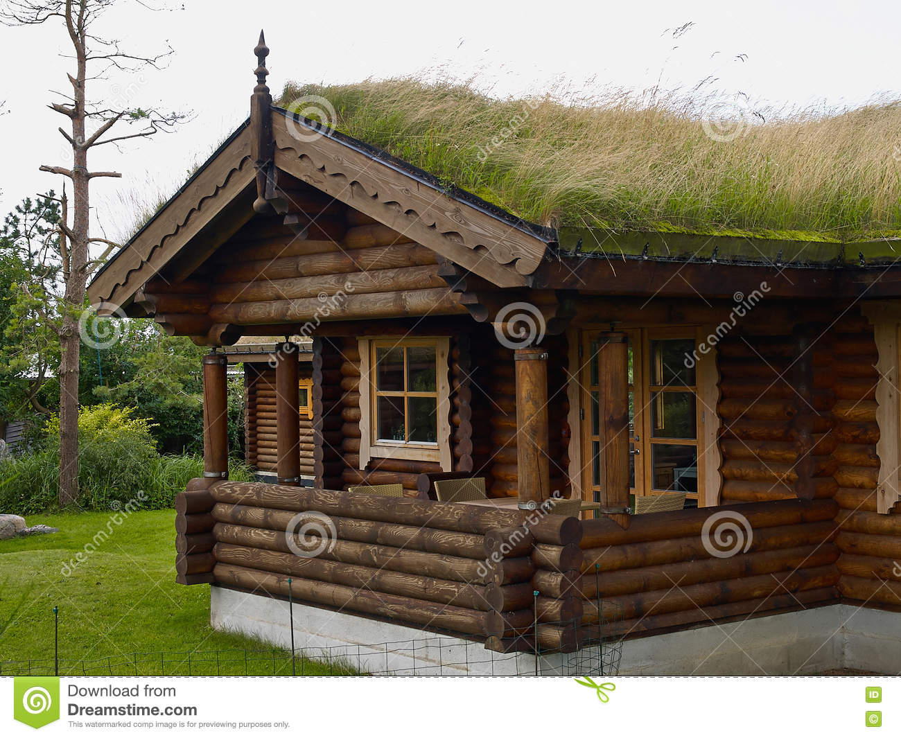 Typical norwegian wooden mountain cabin log house with turf roof stock photo image 78606708 - Norwegian wood houses ...