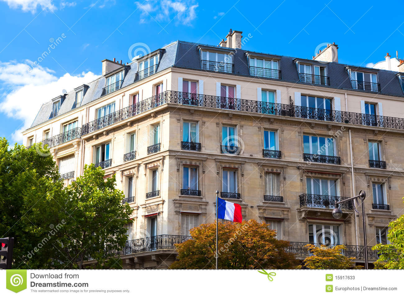 Typical Paris House Stock Photos Image 15917633