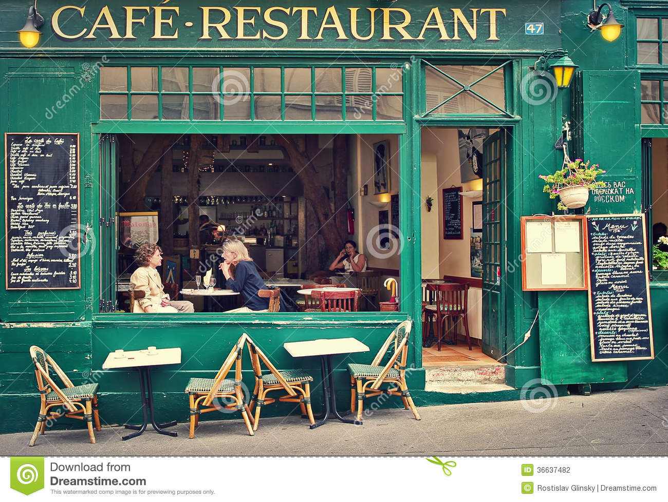 Typical Parisian Cafe Editorial Photography Image Of Parisian 36637482