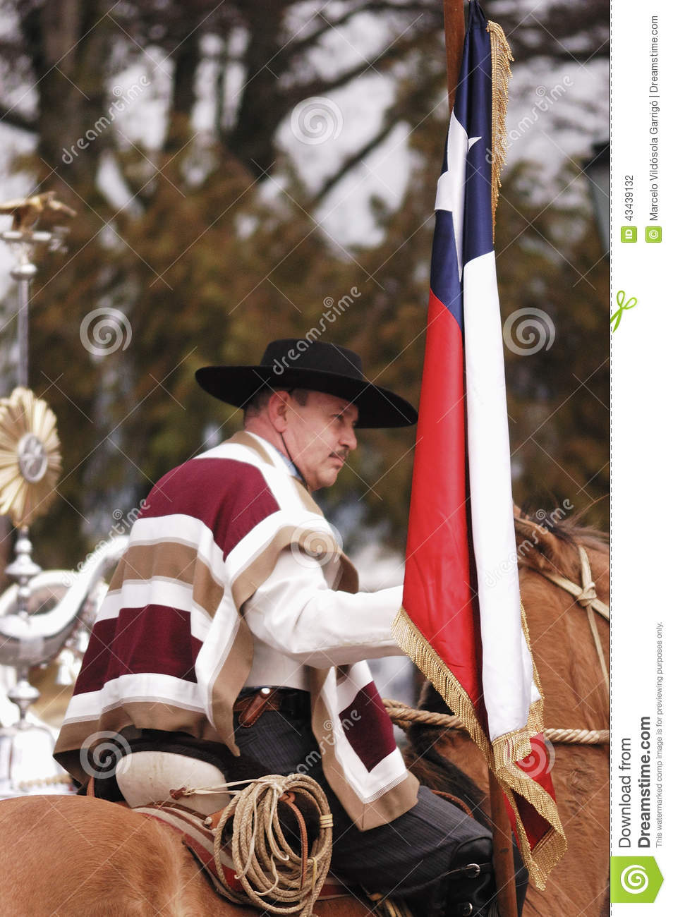 Typical Personage Of Chile Editorial Photography Image Of Costume 43439132