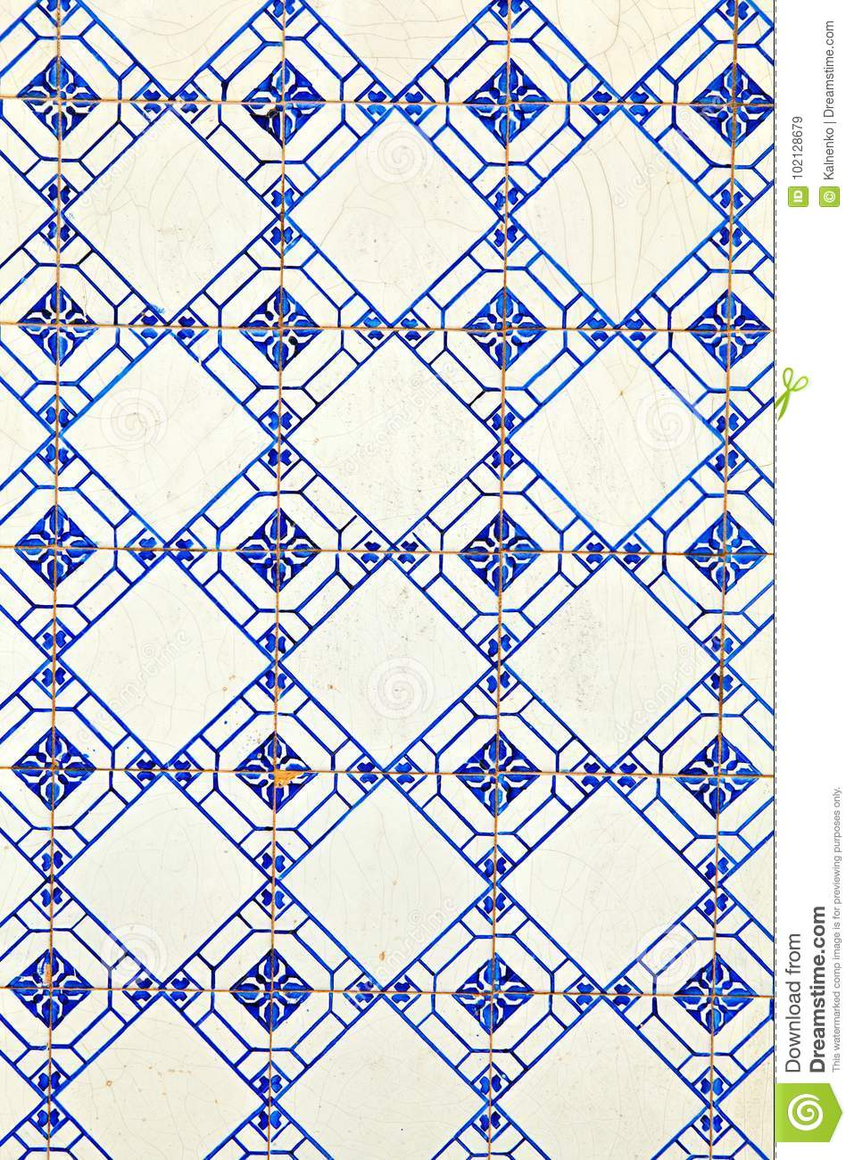 Typical Portuguese Decorations With Colored Ceramic Tiles . Stock ...