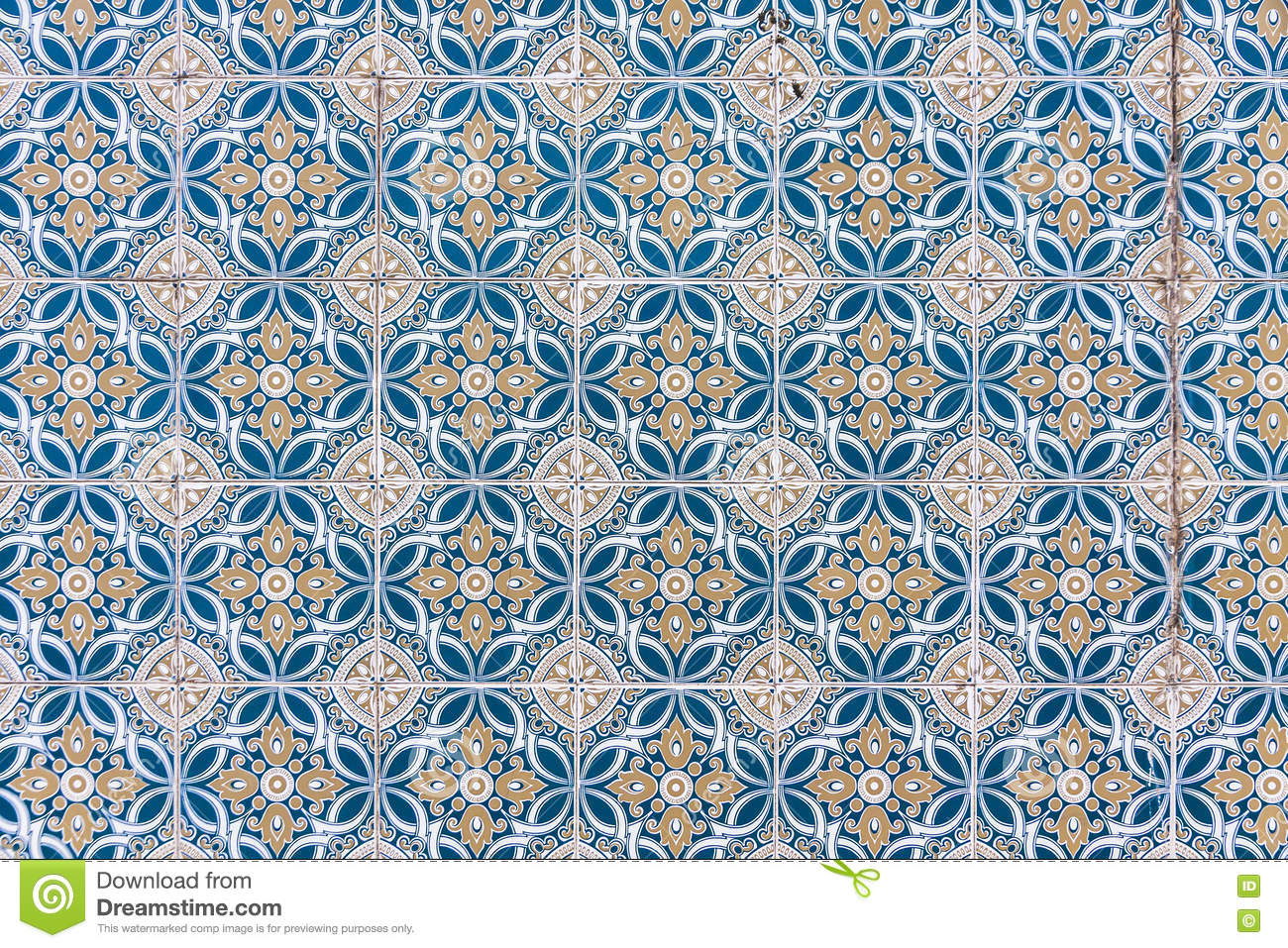 Typical Portuguese Old Ceramic Wall Tiles (Azulejos) Stock Image ...