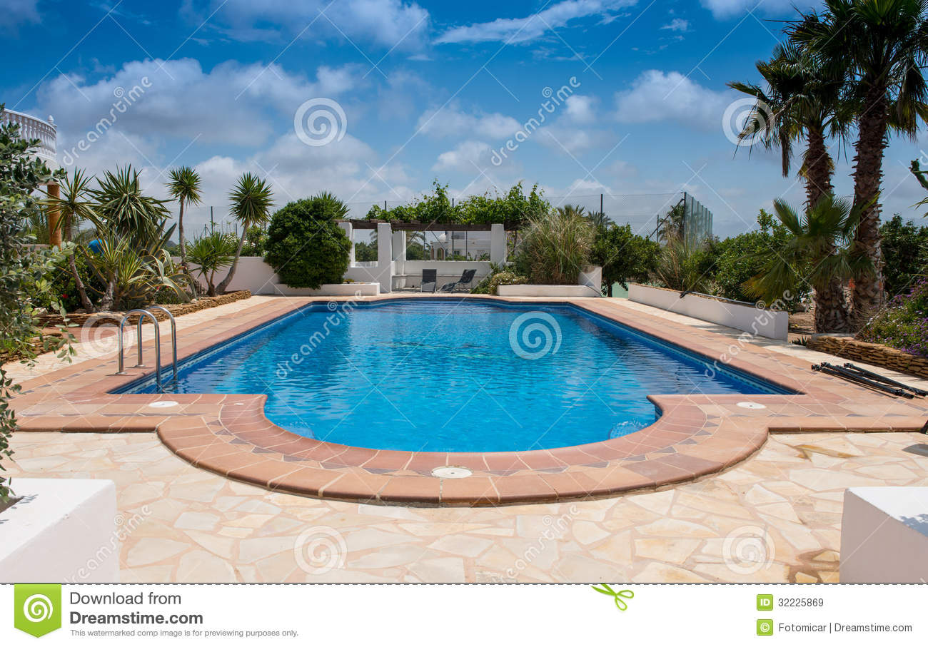 Typical private swimming pool royalty free stock images for Private swimming pool